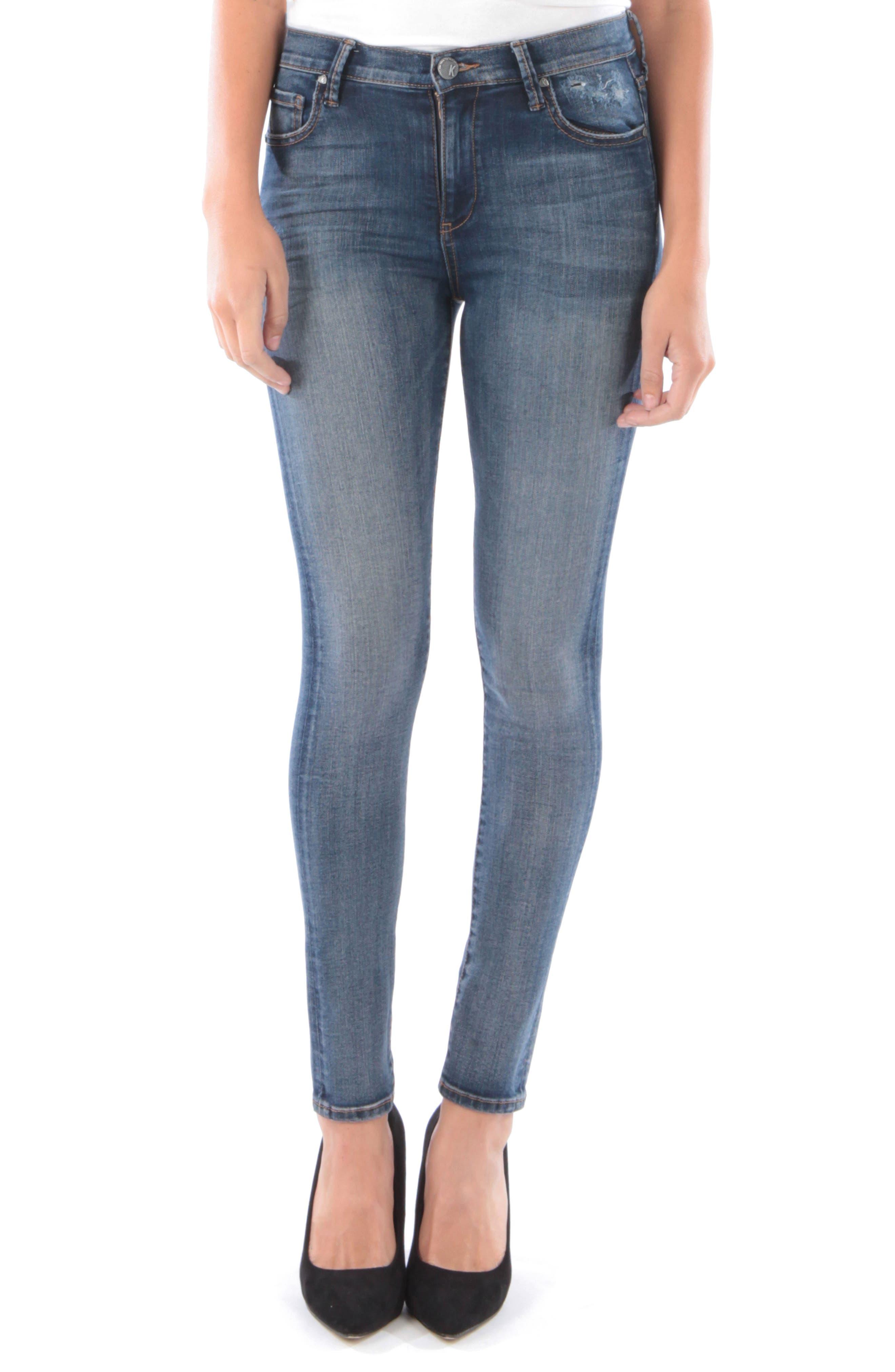 Kut From The Kloth Mia High Waist Skinny Jeans, Blue