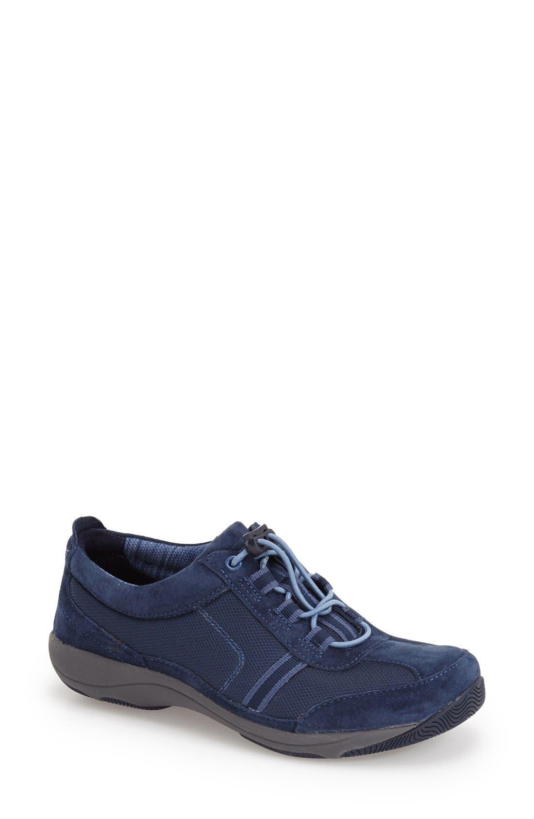 'Helen' Suede & Mesh Sneaker,                             Main thumbnail 12, color,