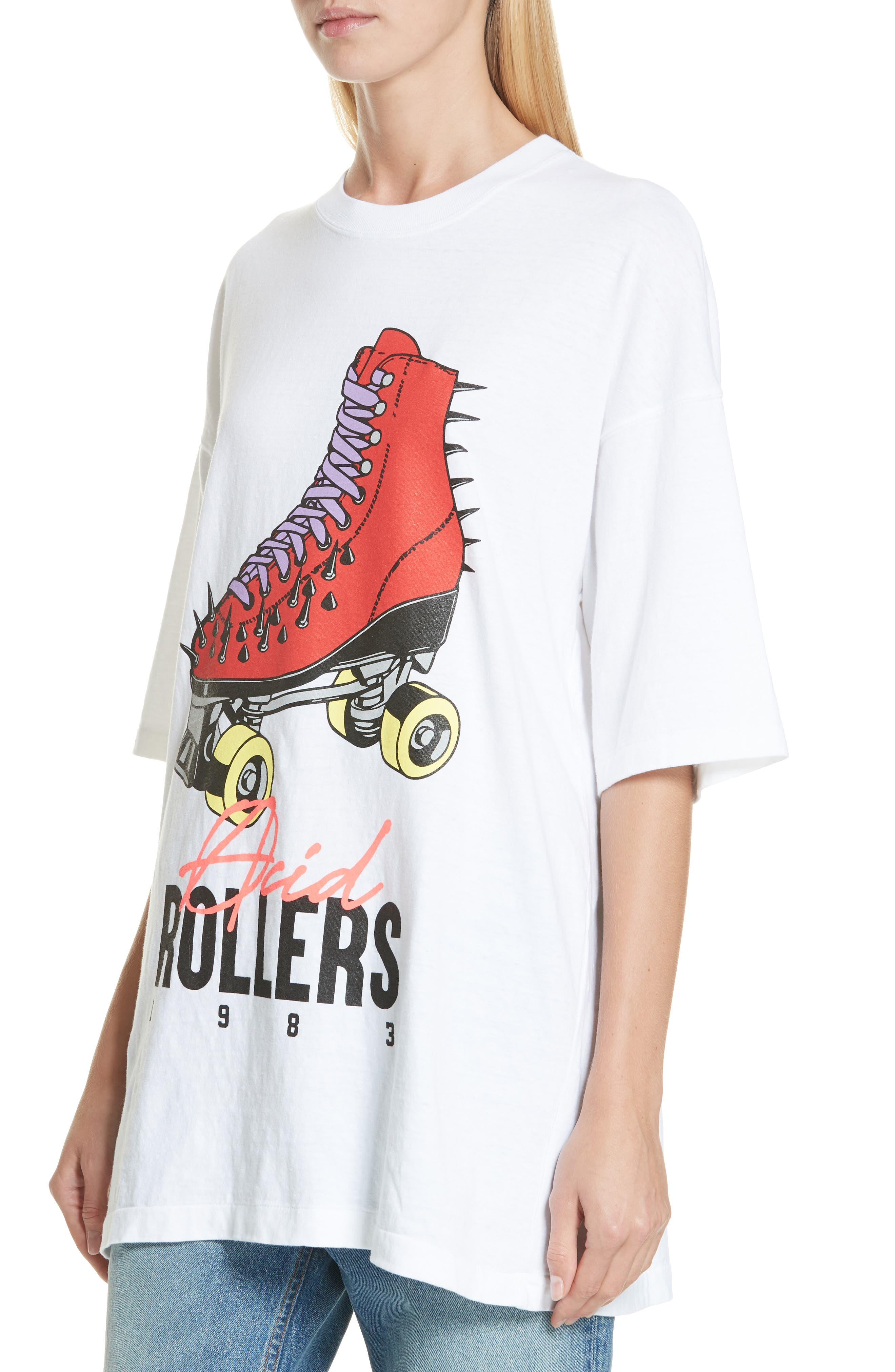 Acid Rollers Tee,                             Alternate thumbnail 4, color,                             A WHITE