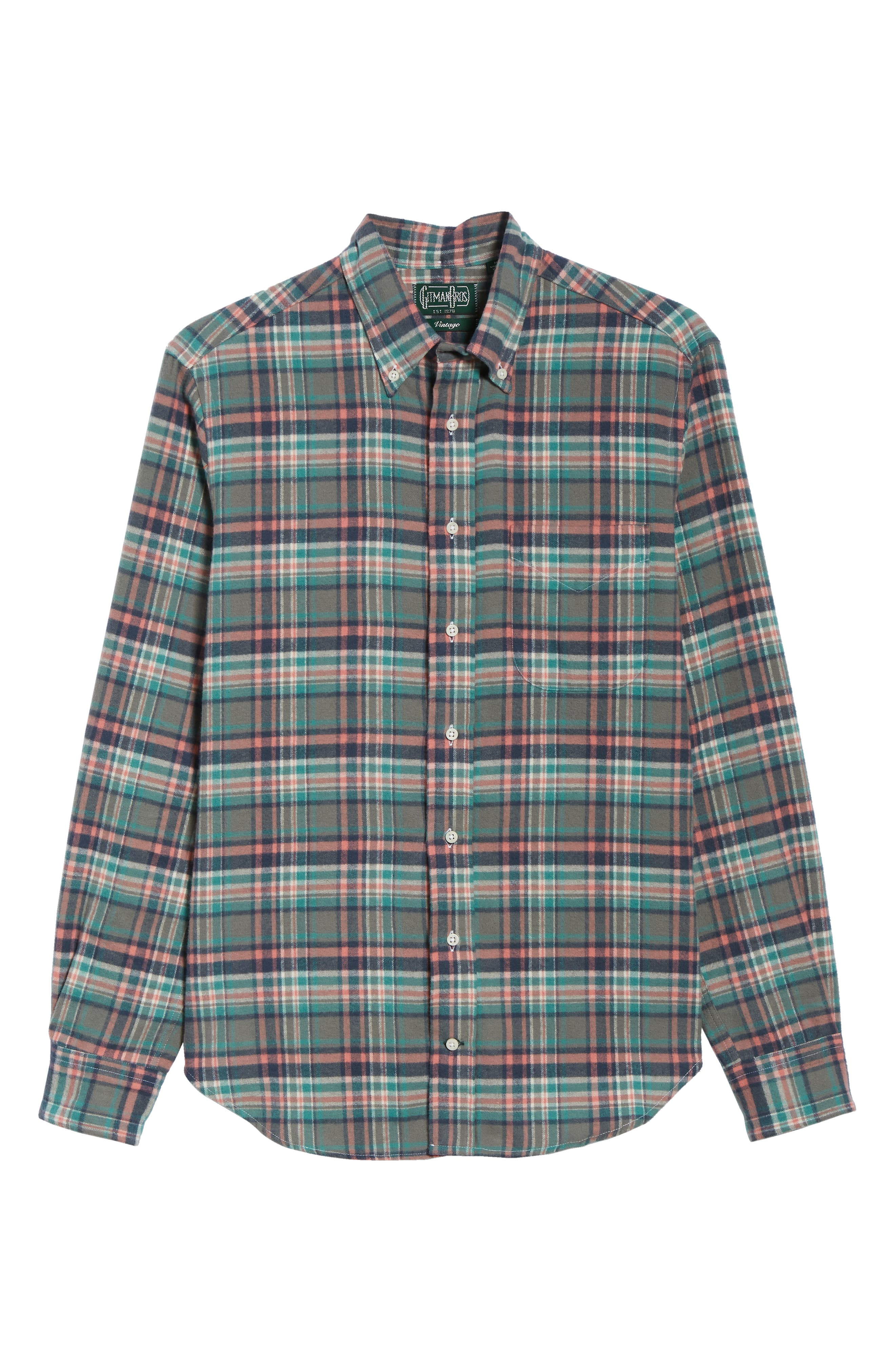 Regular Fit Candy Flannel Shirt,                             Alternate thumbnail 5, color,                             600