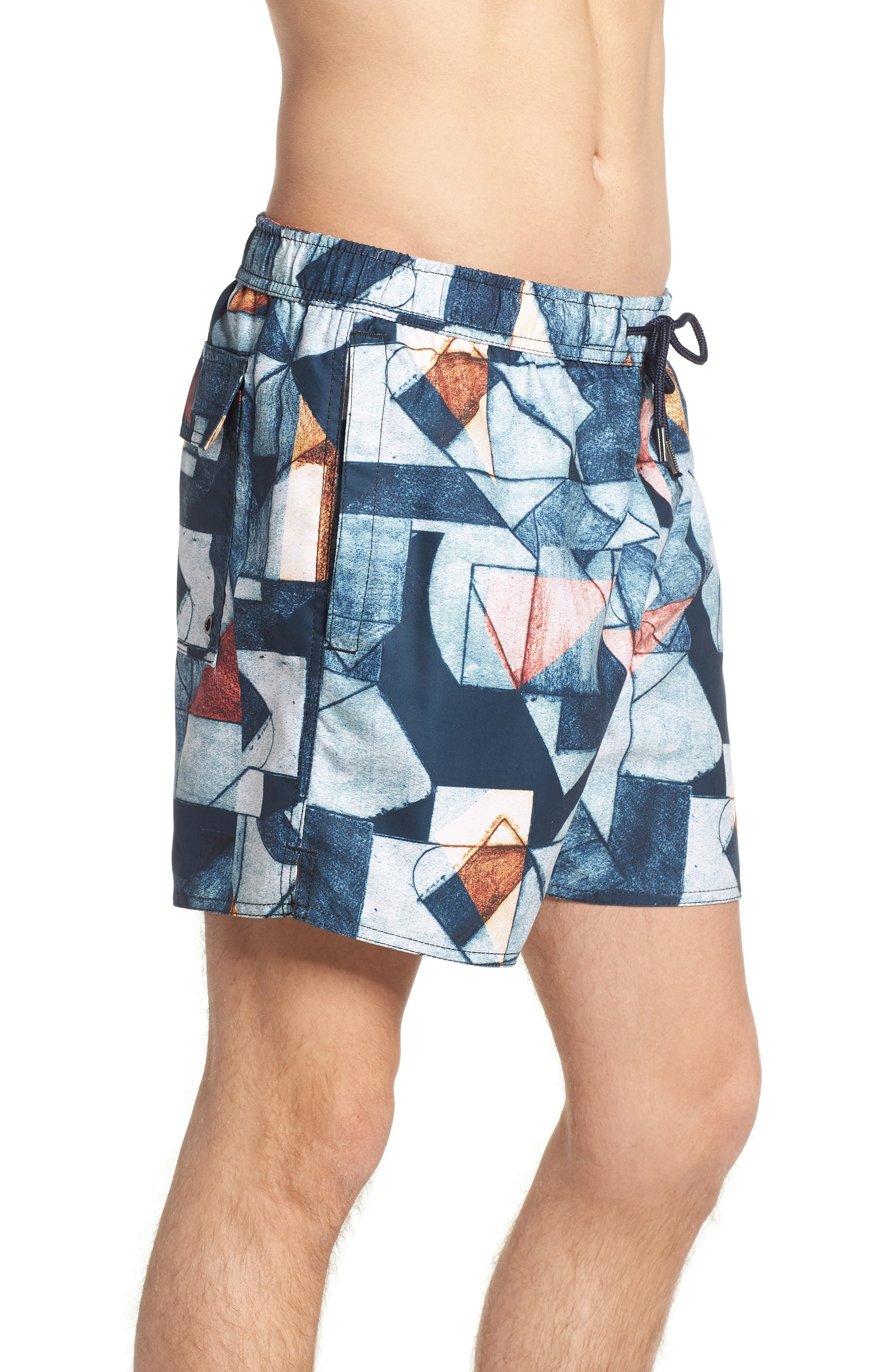 NATIVE YOUTH,                             Olio Etch Swim Trunks,                             Alternate thumbnail 3, color,                             400