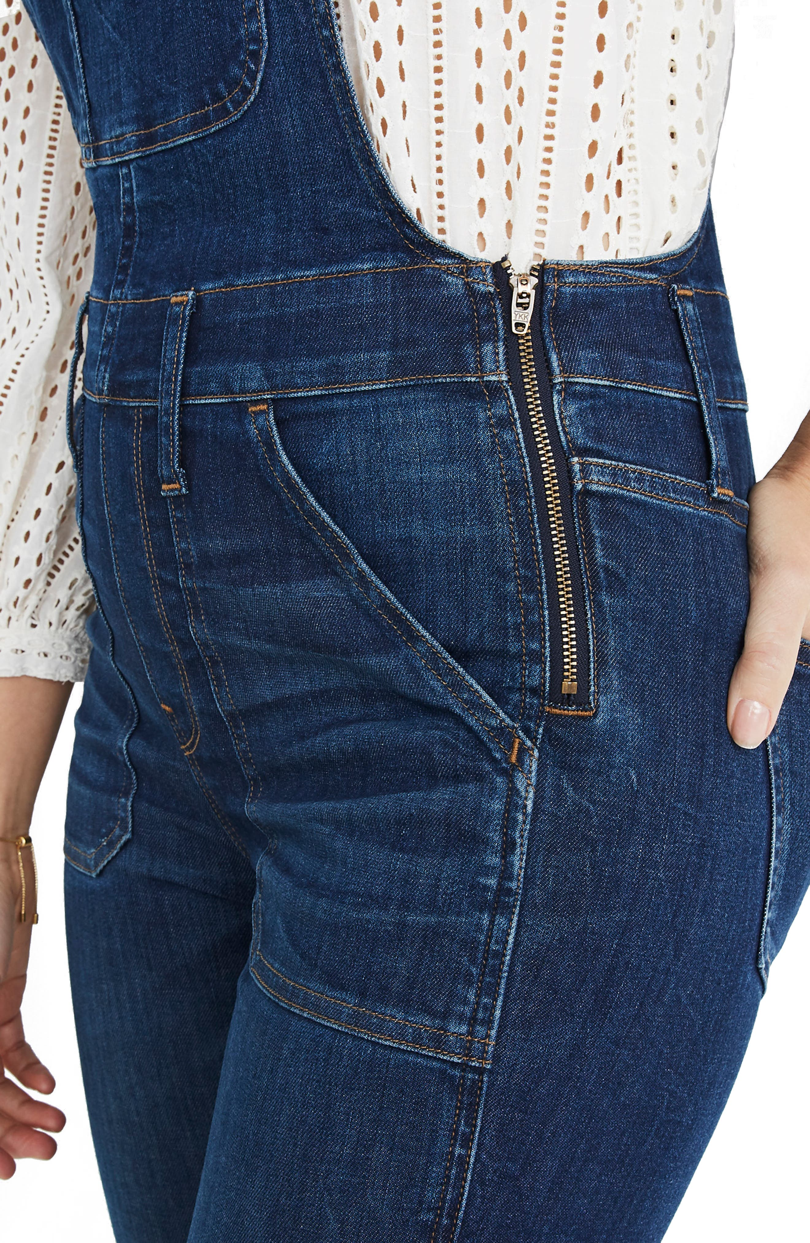 Eco Edition Skinny Overalls,                             Alternate thumbnail 4, color,                             ELMDALE