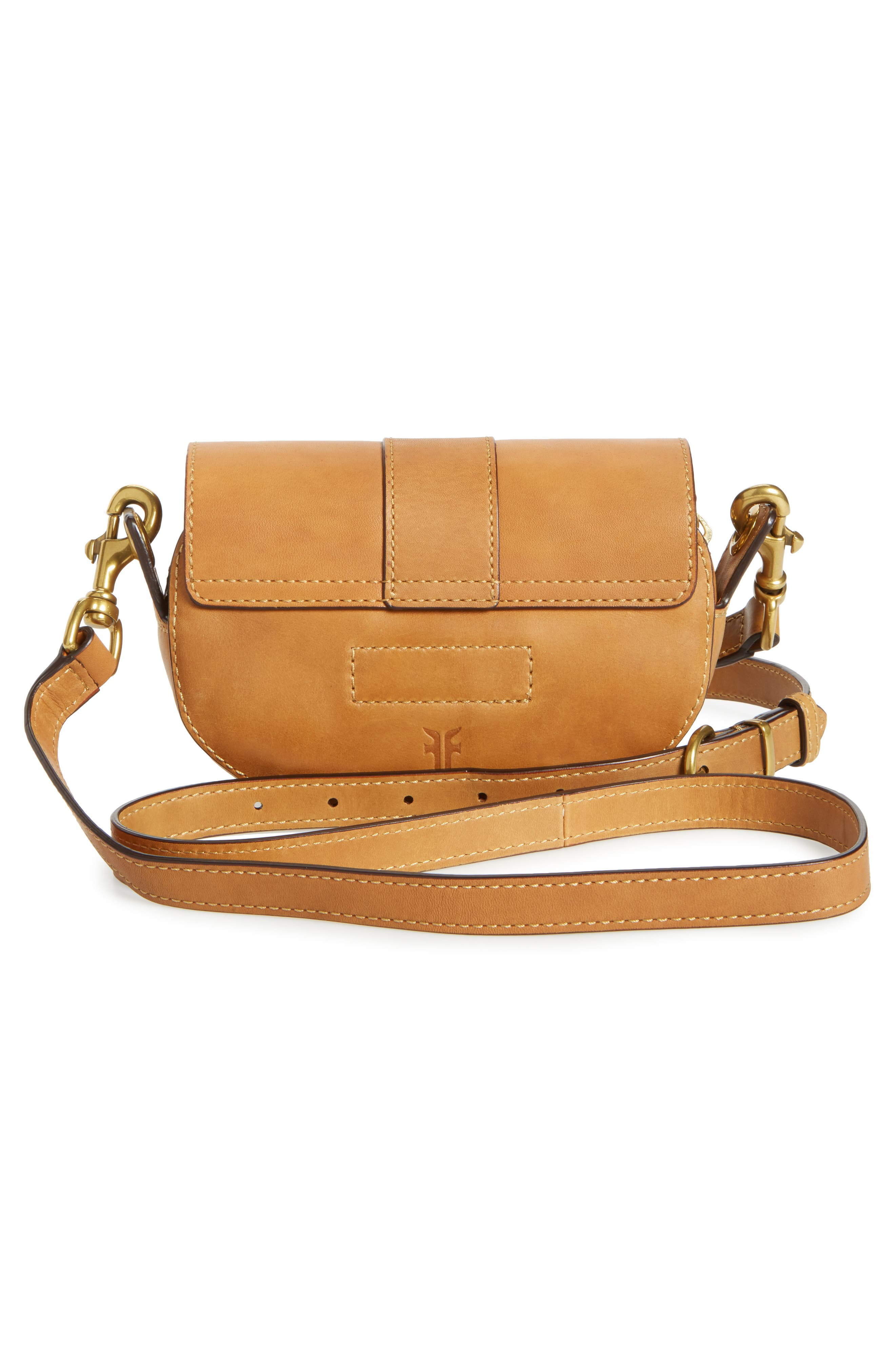 Mini Ilana Harness Leather Saddle Bag,                             Alternate thumbnail 6, color,