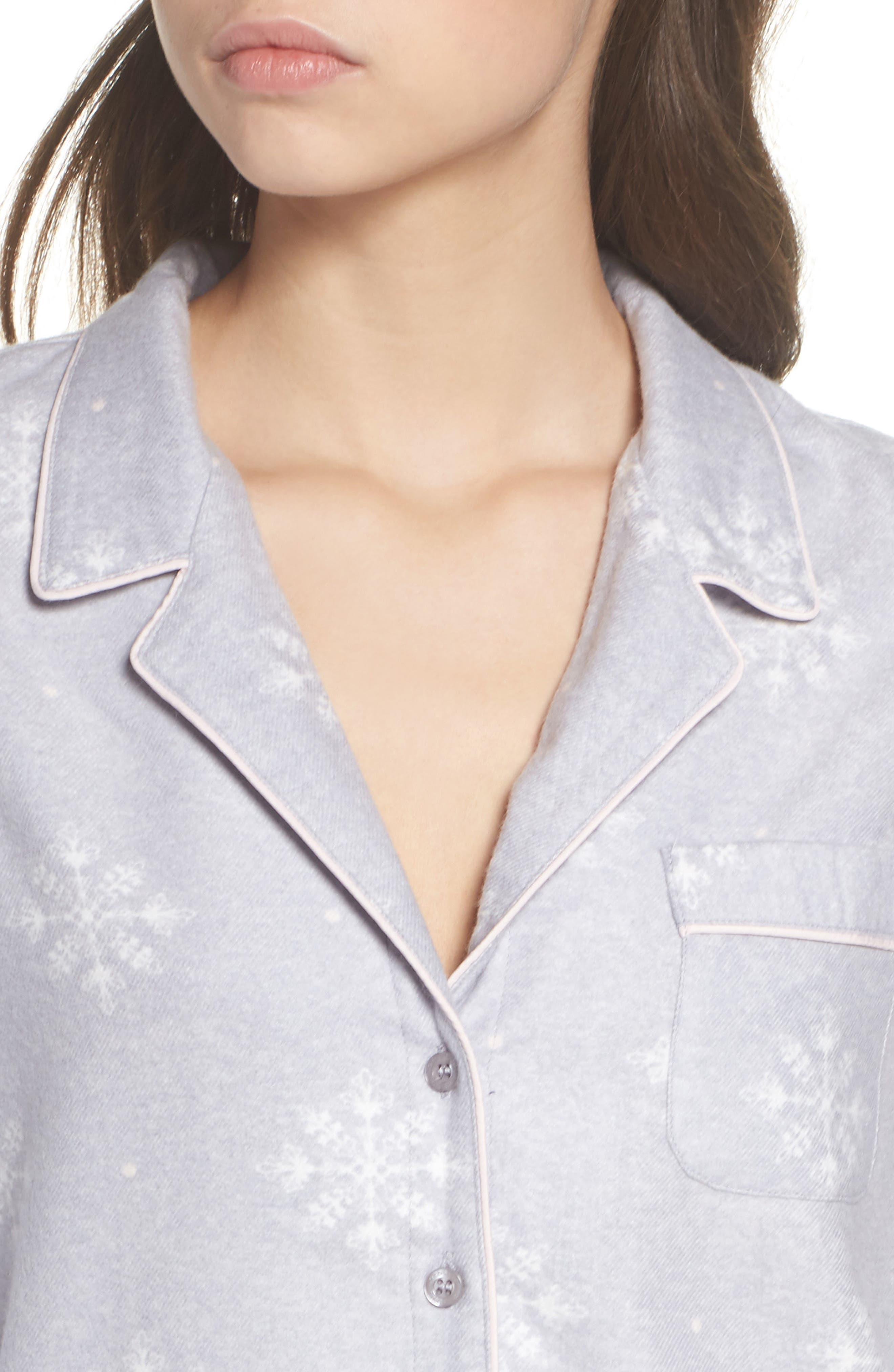 Lingerie Starlight Flannel Pajamas,                             Alternate thumbnail 16, color,