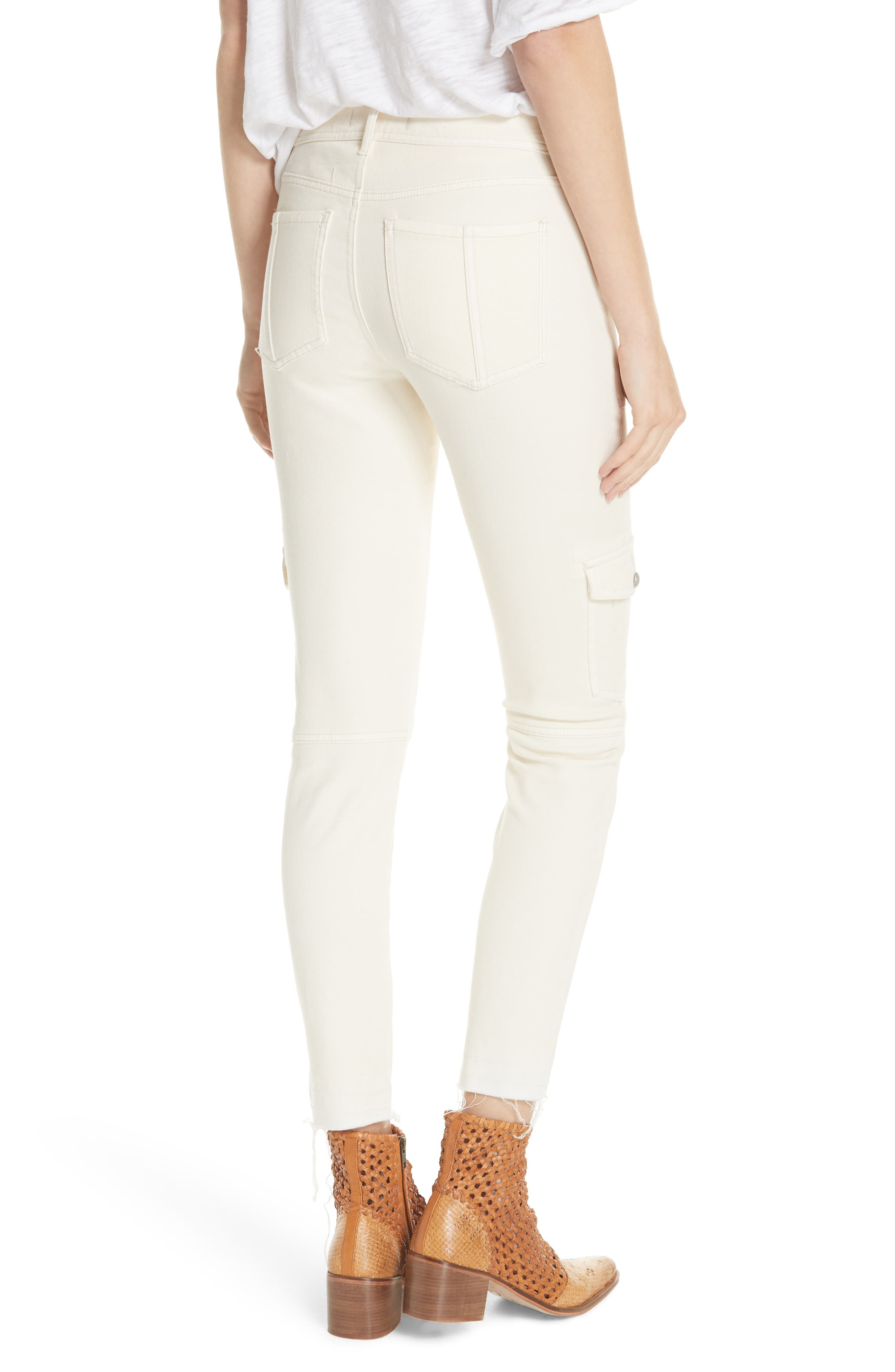 Utility Skinny Jeans,                             Alternate thumbnail 2, color,                             NEUTRAL