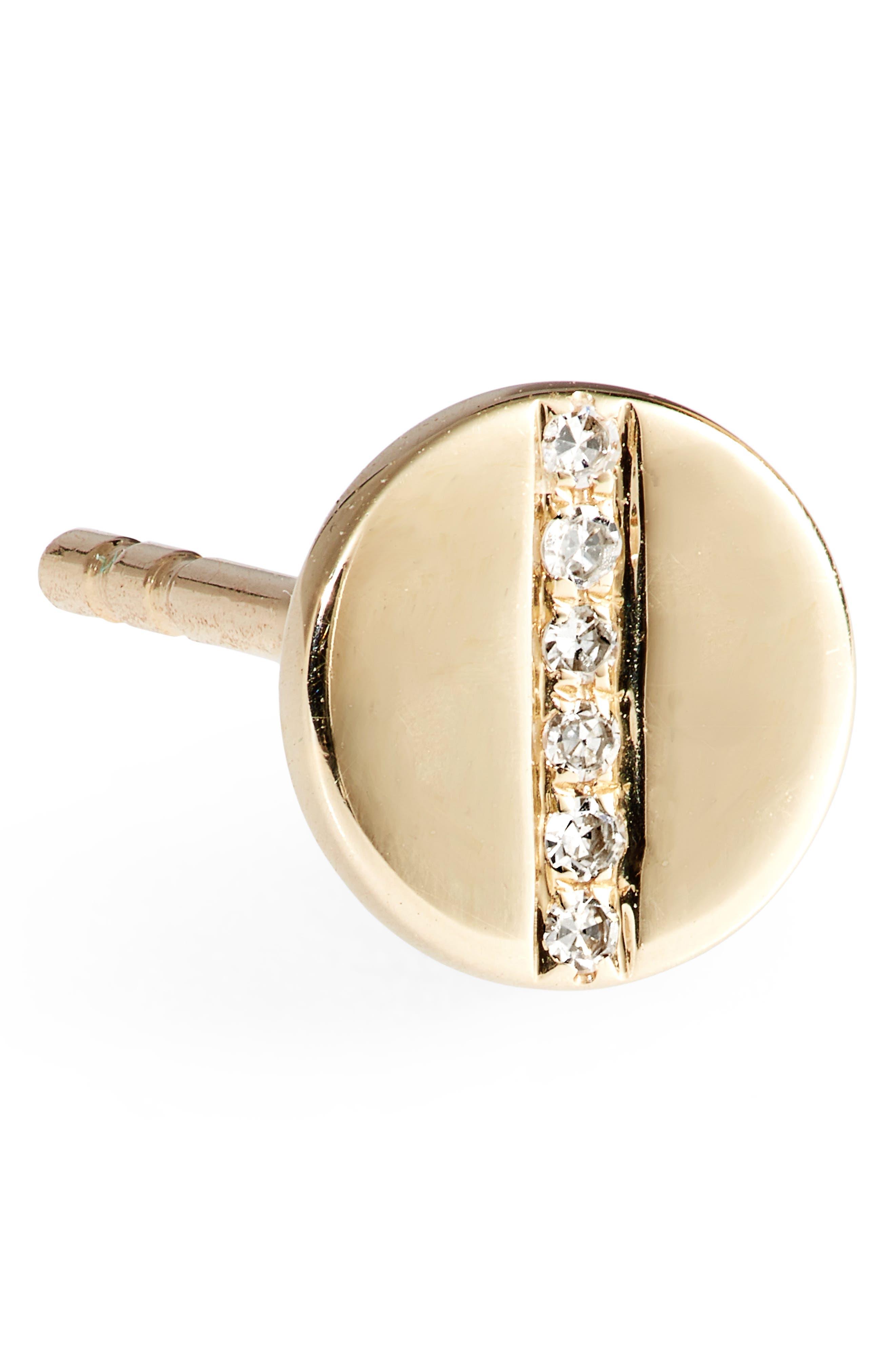 Screw Diamond Stud Earrings,                             Alternate thumbnail 5, color,                             YELLOW GOLD
