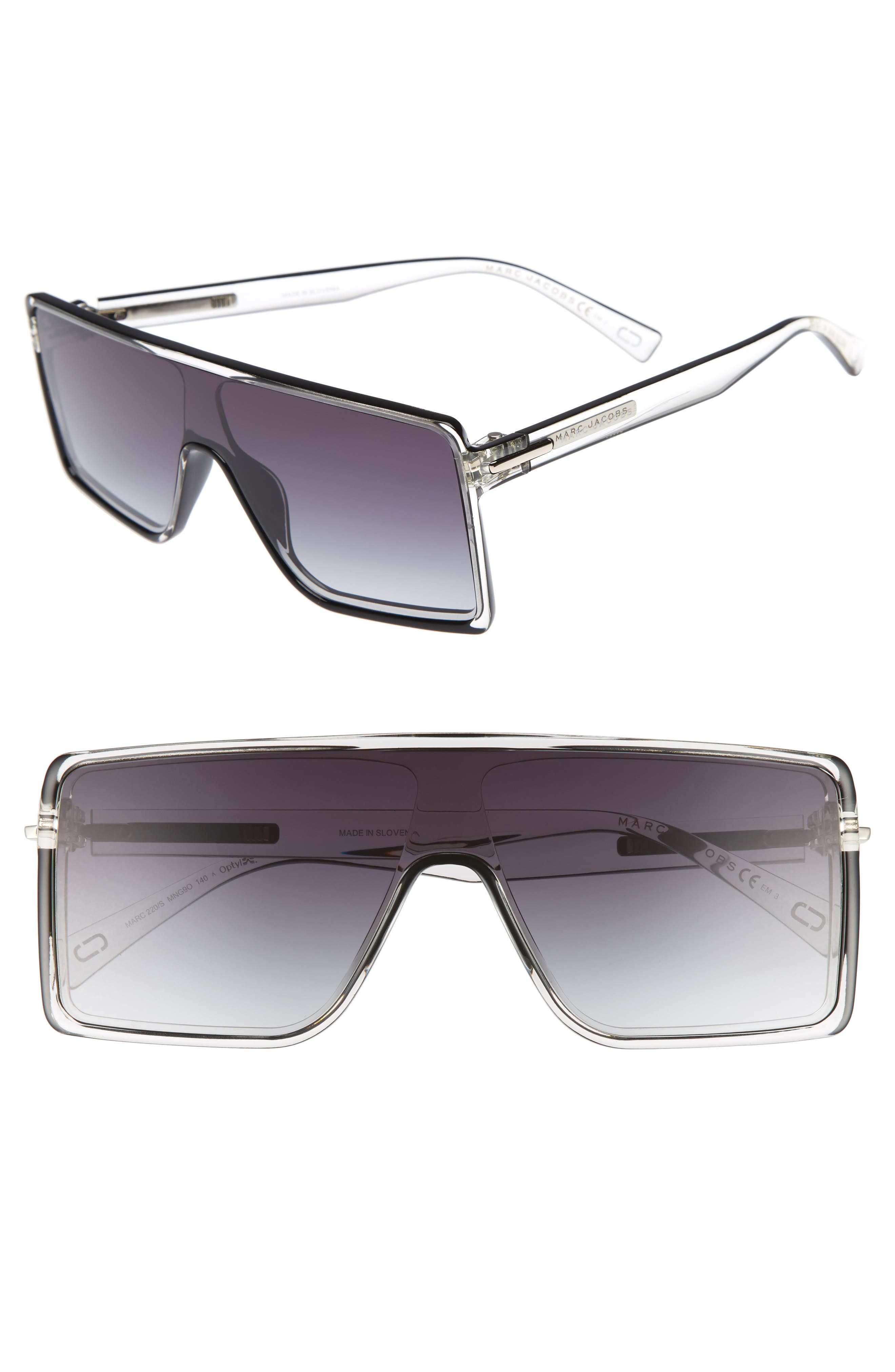54mm Shield Sunglasses,                             Main thumbnail 1, color,                             001