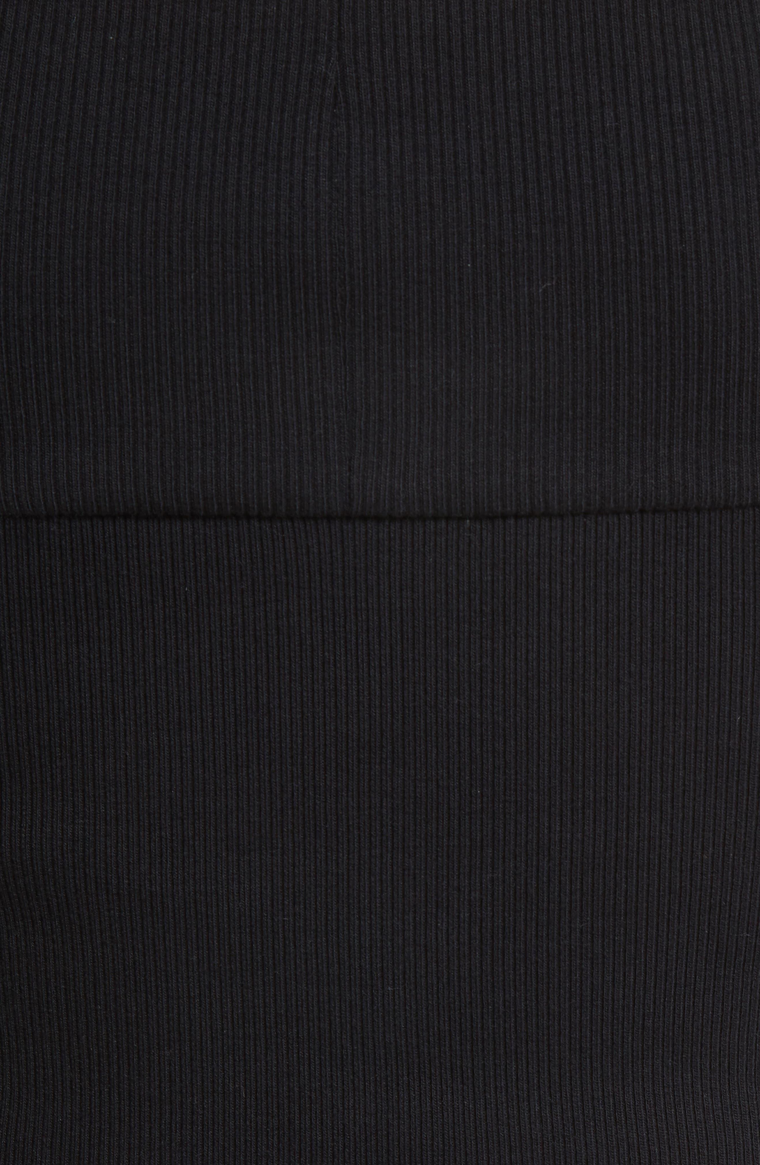 Jersey Off the Shoulder Crop Top,                             Alternate thumbnail 5, color,                             001