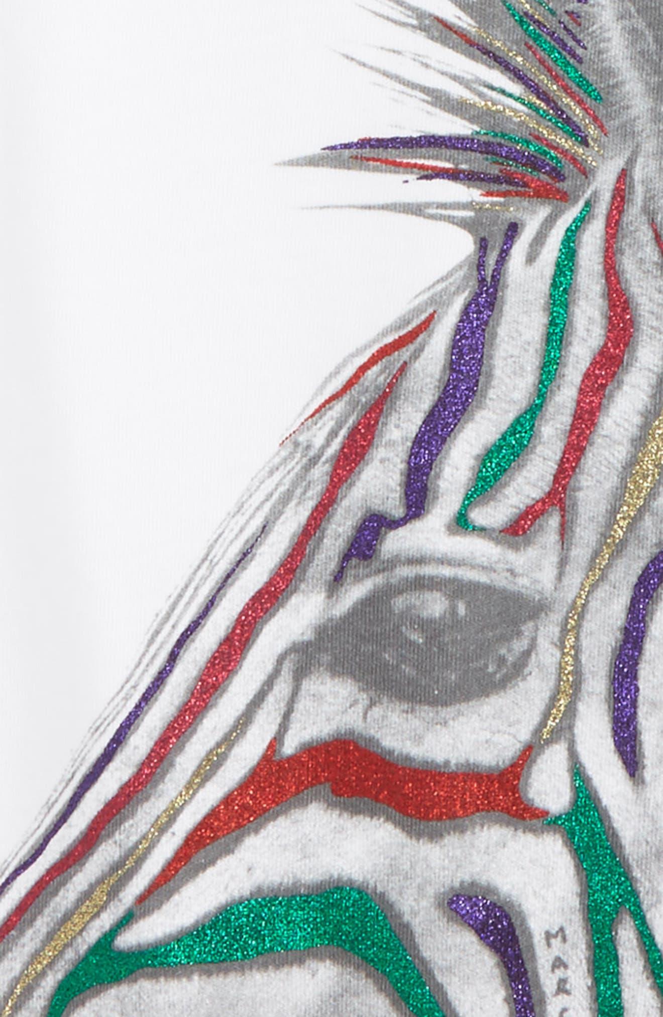 Glitter Zebra Tee,                             Alternate thumbnail 2, color,