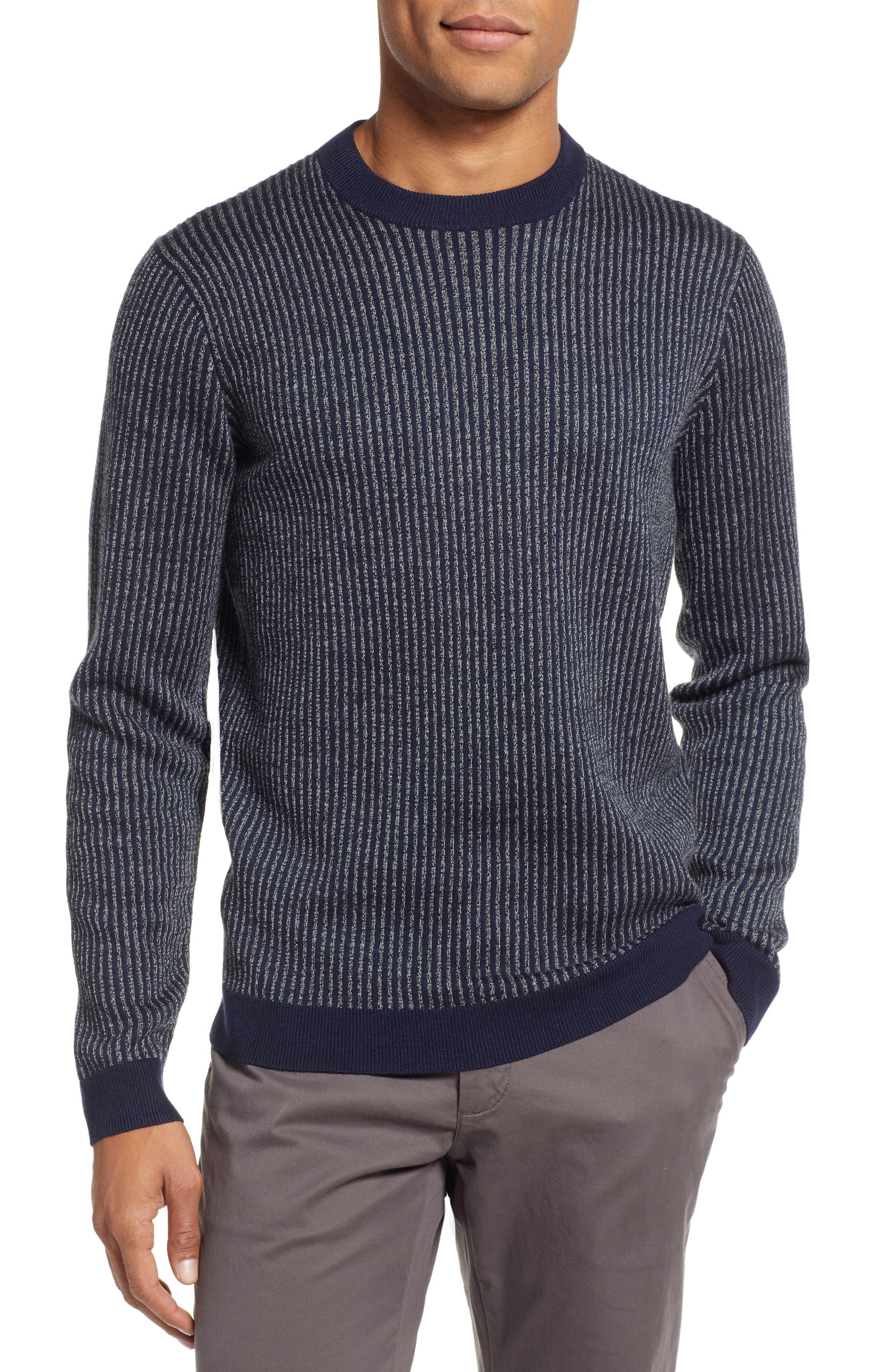 Jinxitt Crewneck Sweater,                         Main,                         color, NAVY