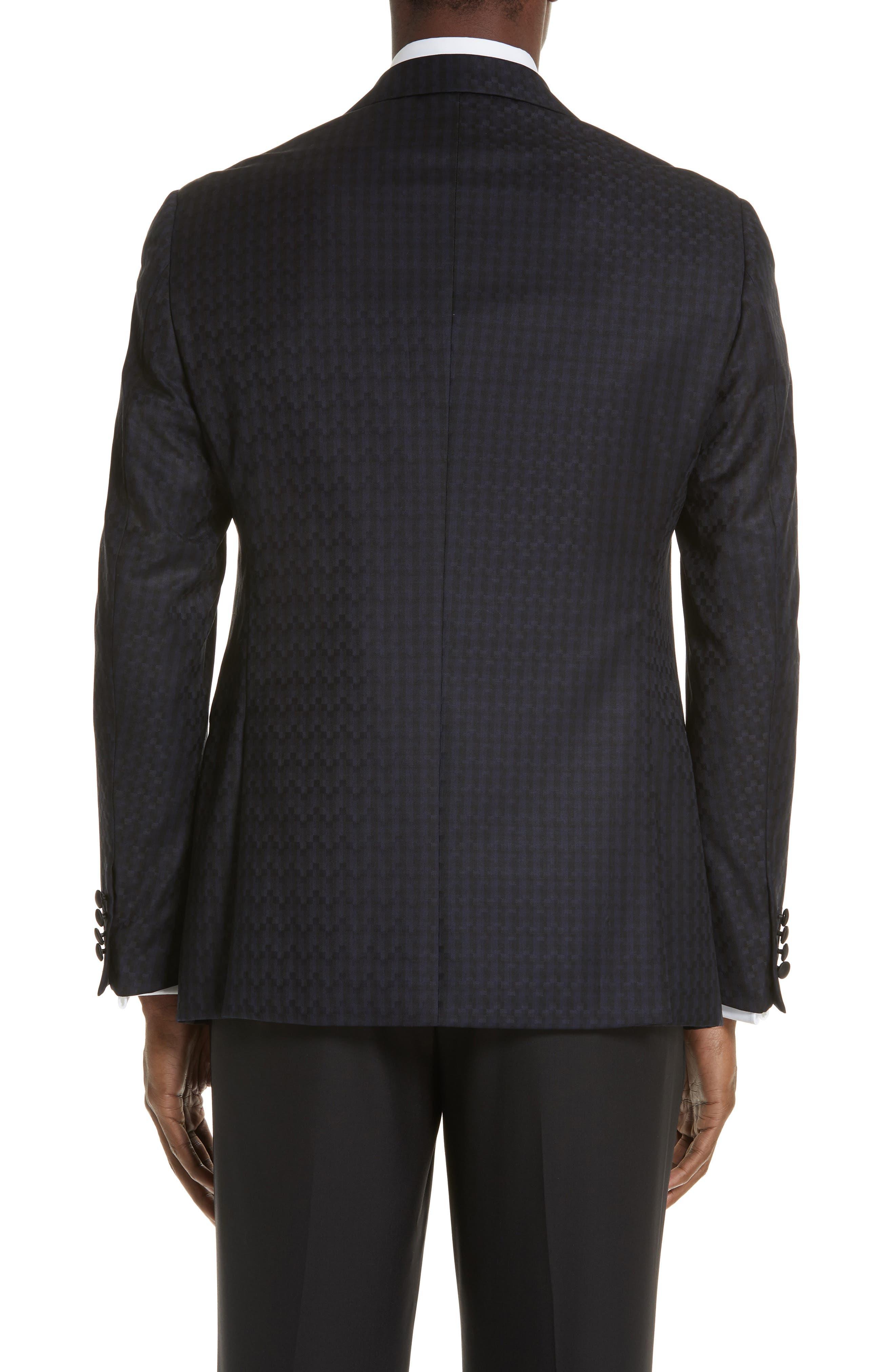 G-Line Trim Fit Wool Dinner Jacket,                             Alternate thumbnail 2, color,                             MIDNIGHT