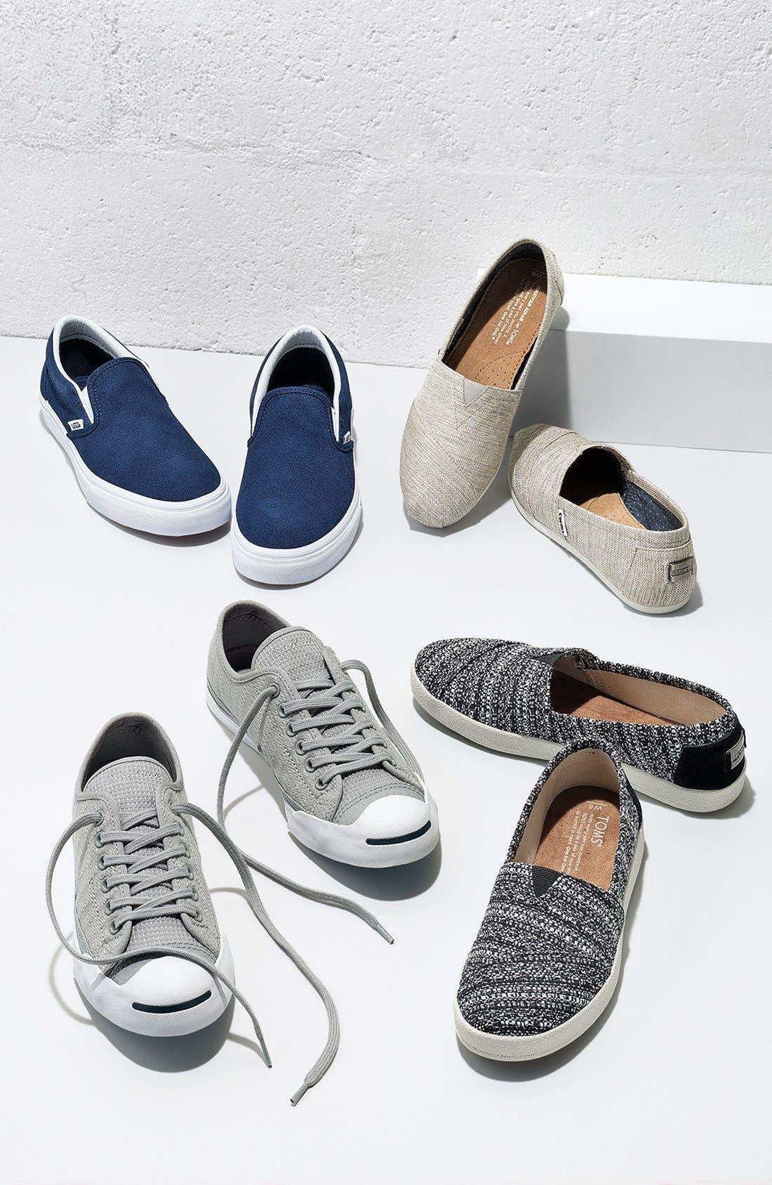VANS,                             Suede Slip-On Sneaker,                             Alternate thumbnail 6, color,                             020