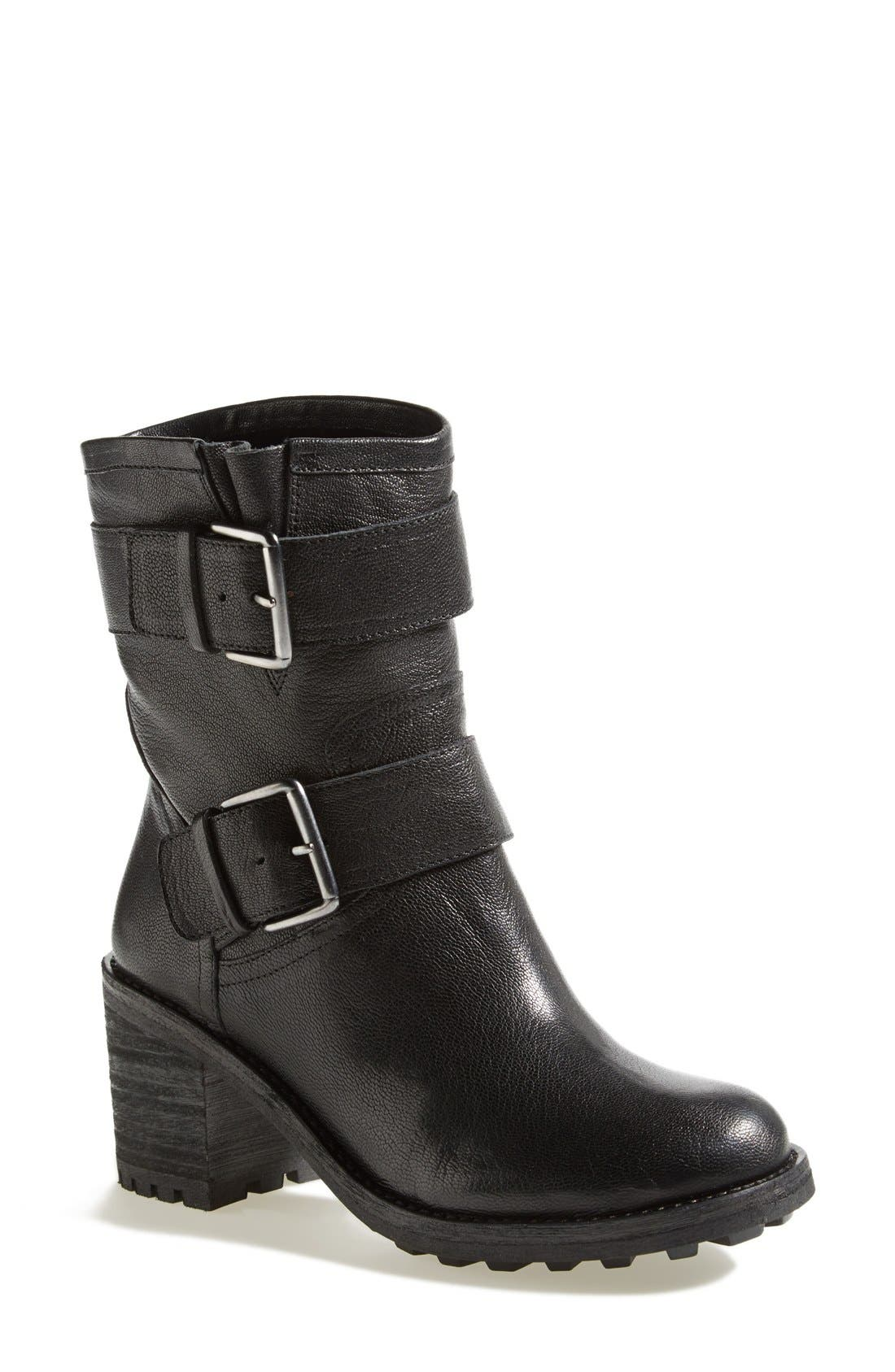 'Troy' Moto Boot,                         Main,                         color, 001