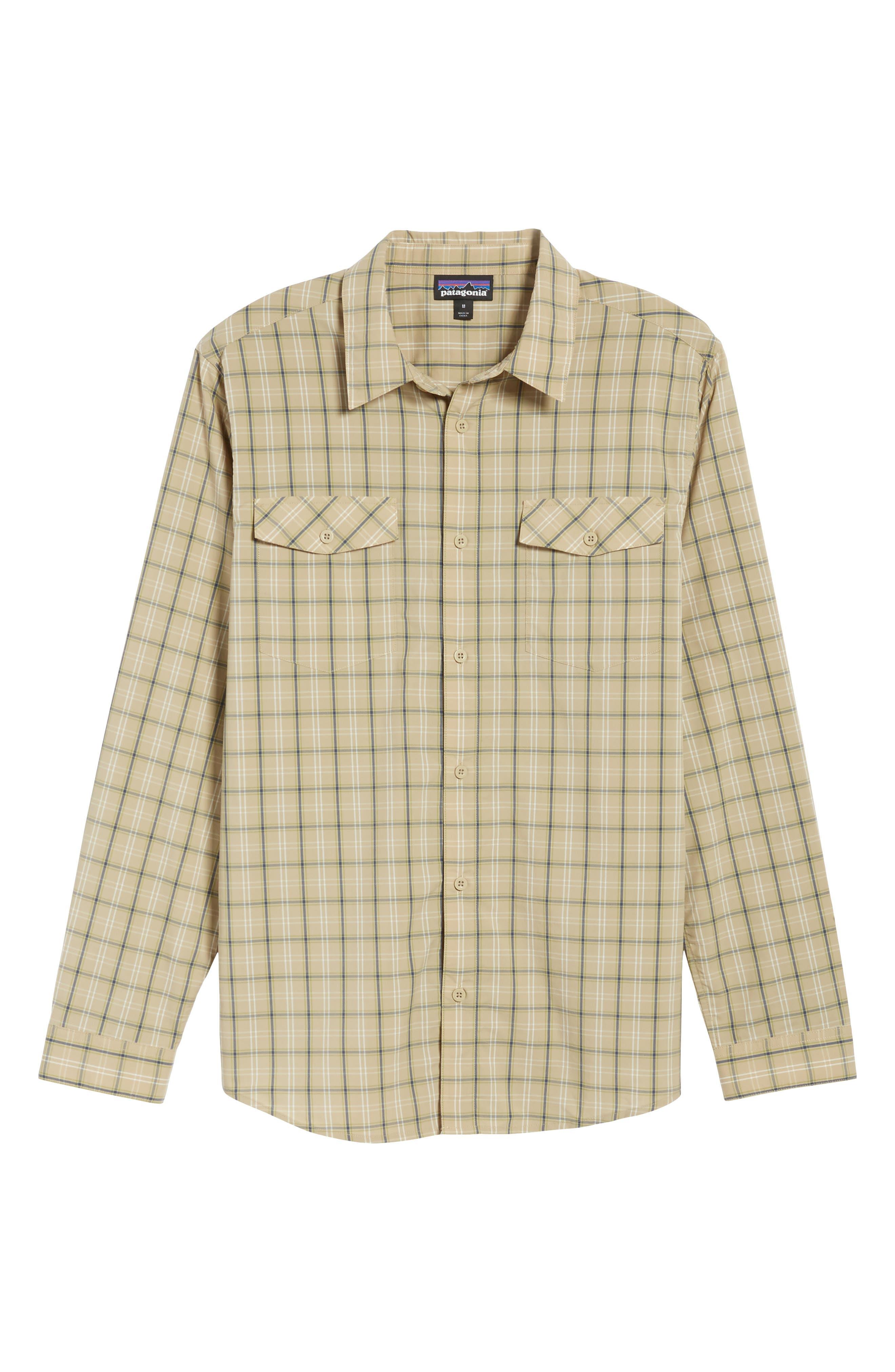 M's High Moss Plaid Sport Shirt,                             Alternate thumbnail 6, color,                             EL CAP KHAKI