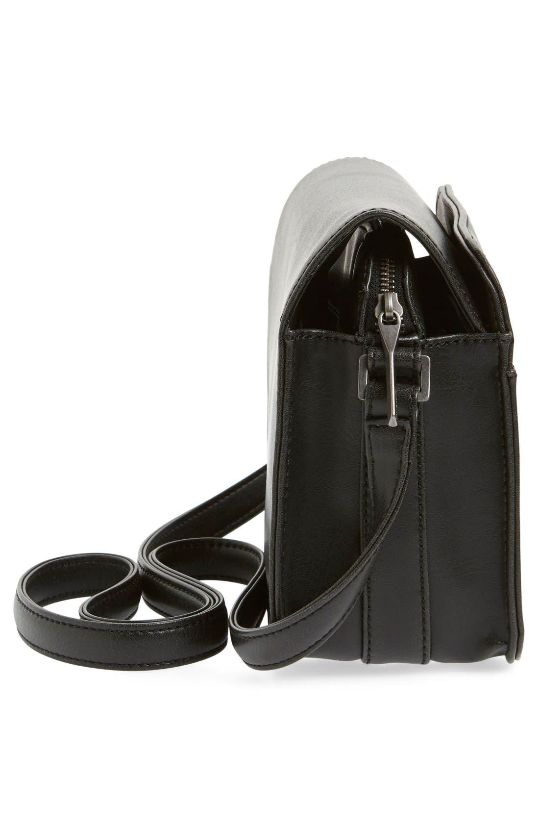 MATT & NAT,                             'Elle' Vegan Leather Crossbody Bag,                             Alternate thumbnail 5, color,                             001