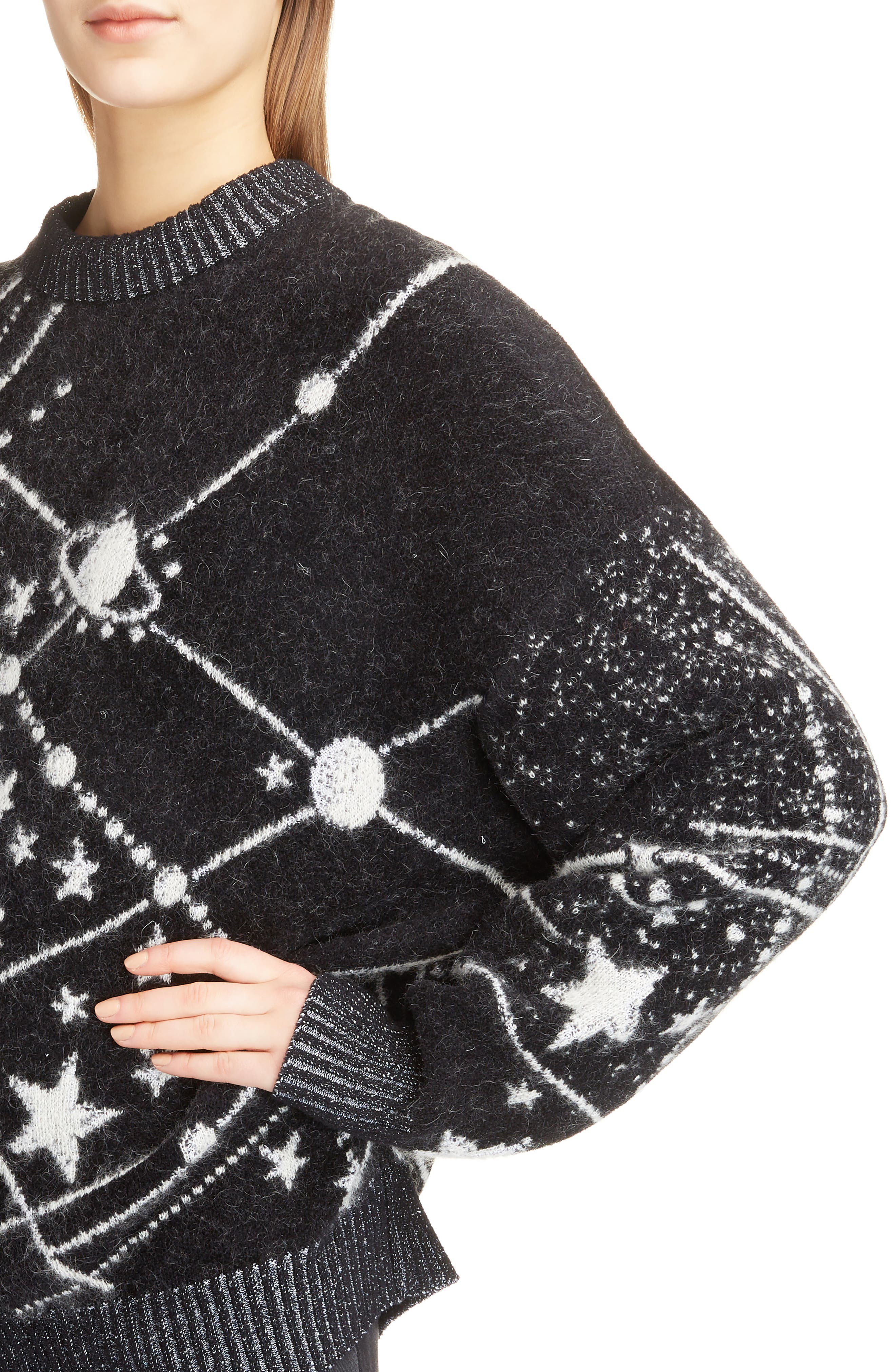 Constellation Oversize Mohair Sweater,                             Alternate thumbnail 4, color,                             011