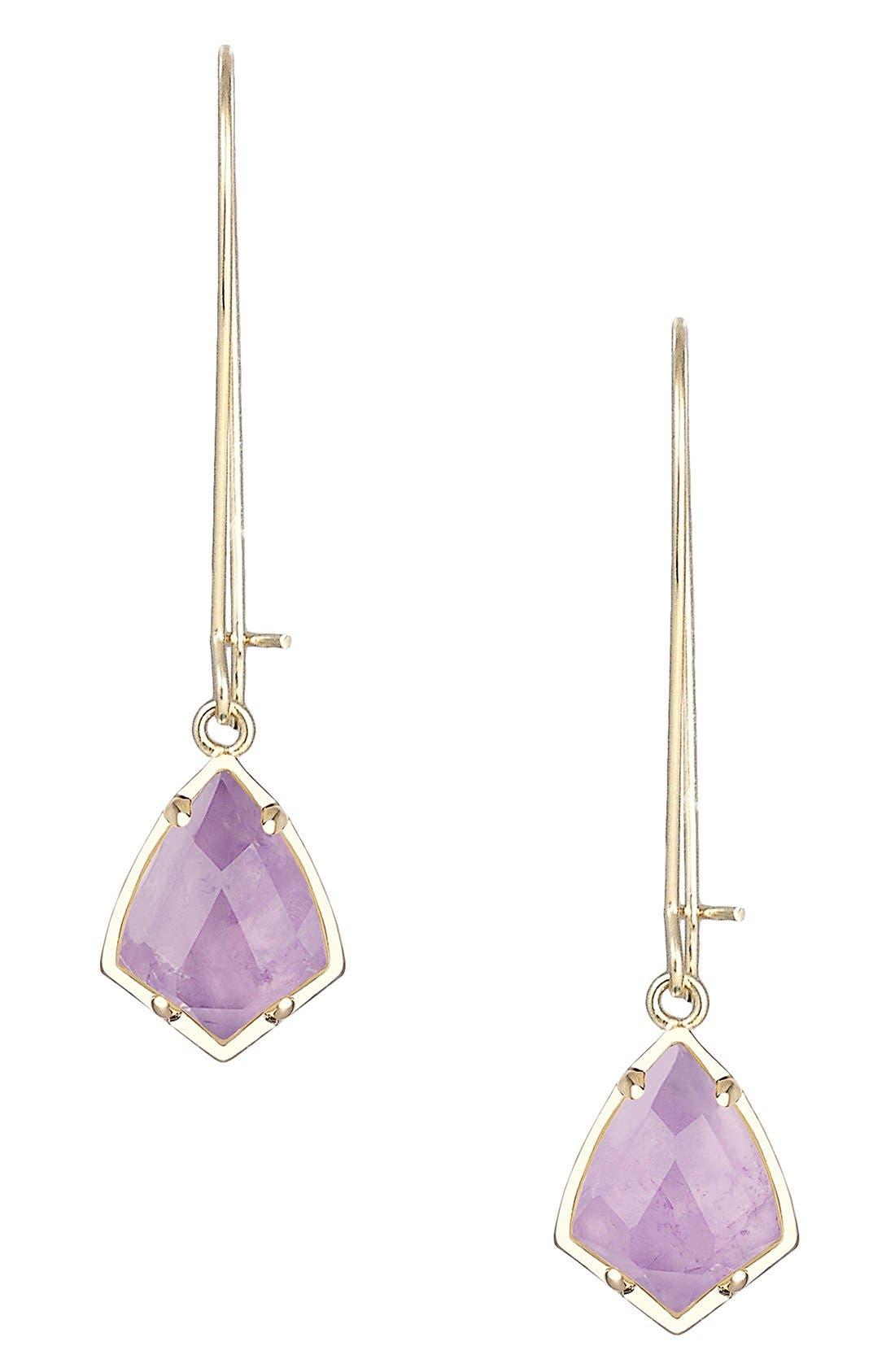 'Carrine' Semiprecious Stone Drop Earrings,                             Main thumbnail 9, color,