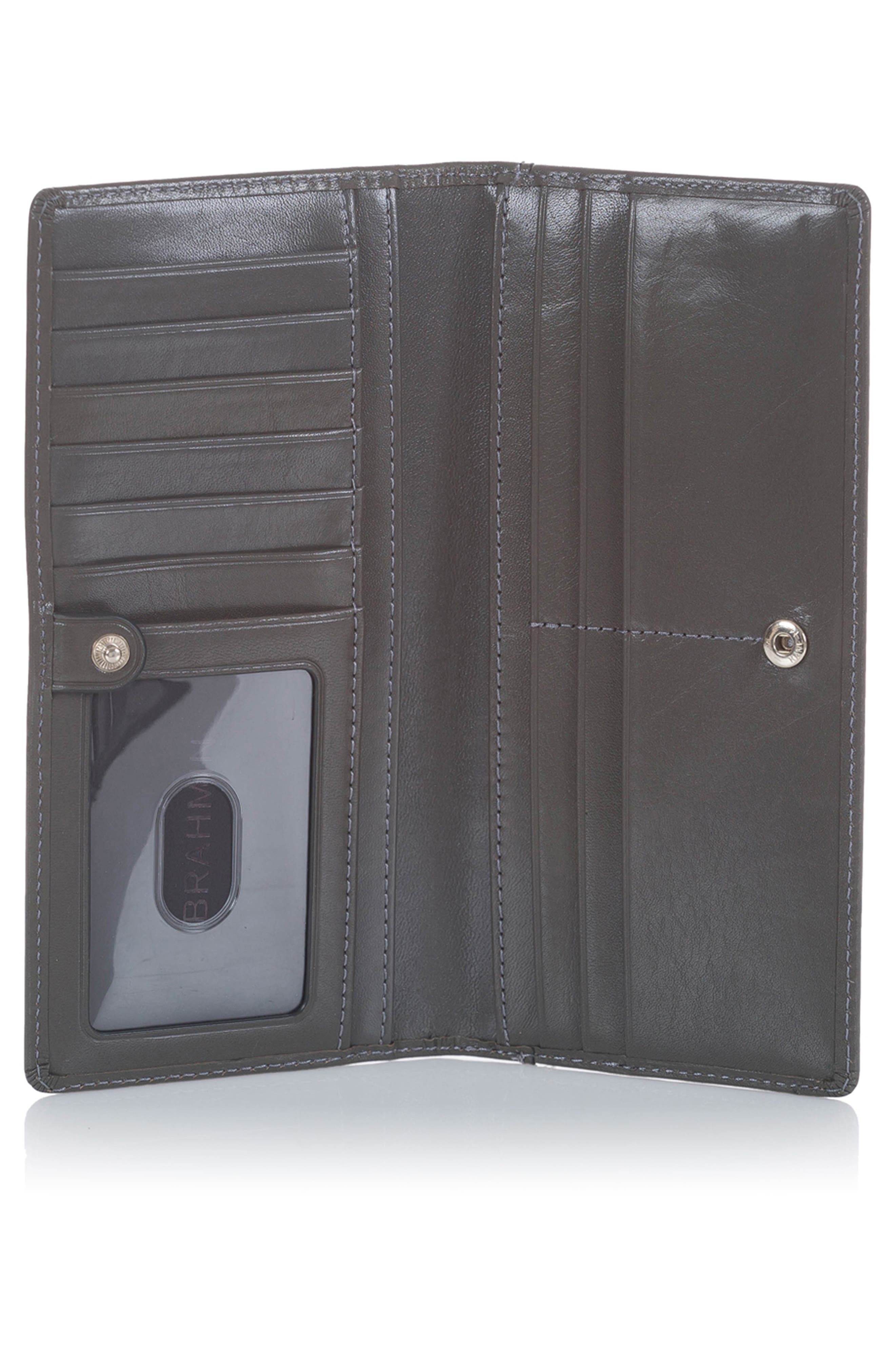 Ady Leather Wallet,                             Alternate thumbnail 2, color,                             CHARCOAL