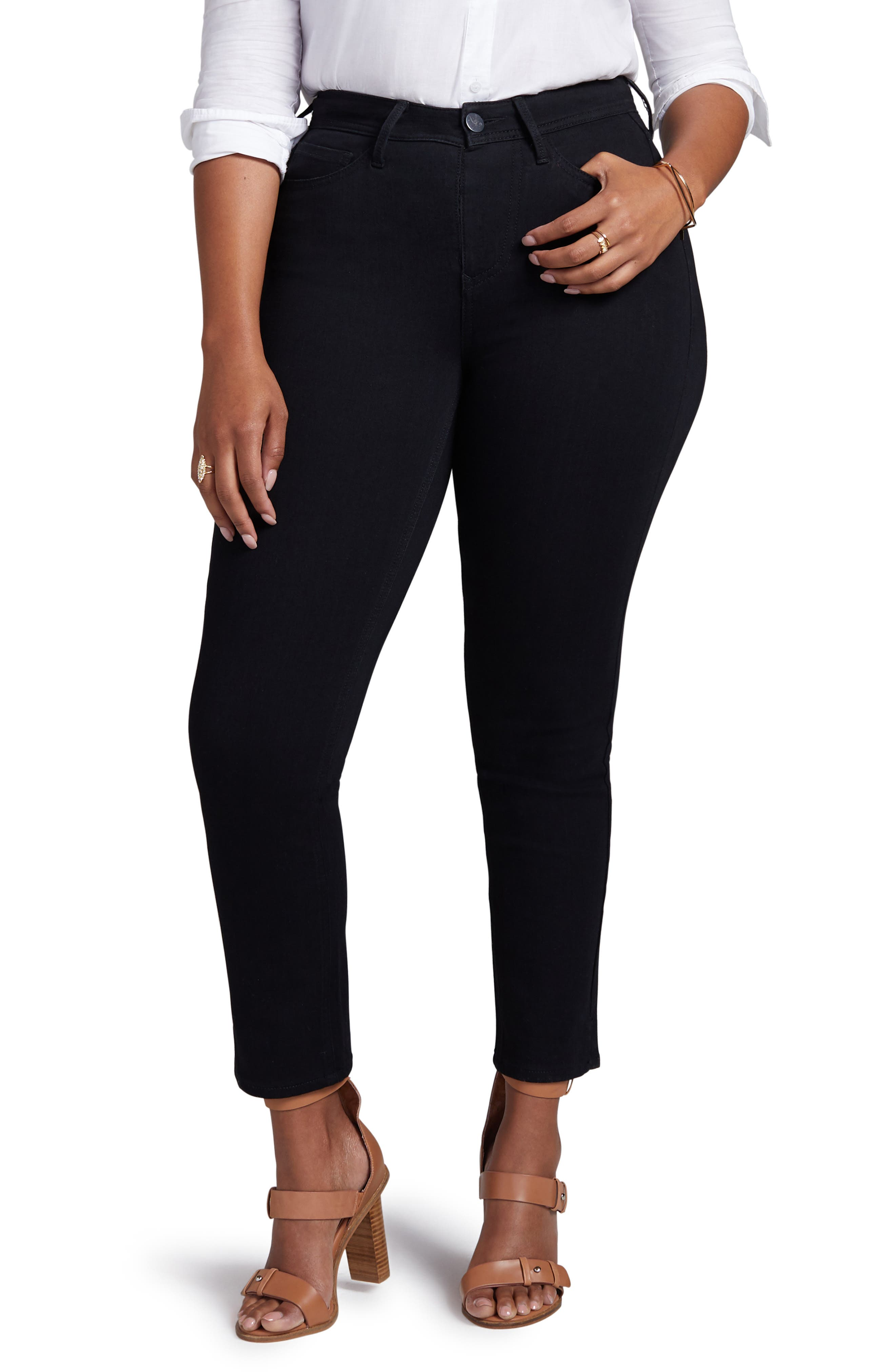 Shape Slim Straight Leg Jeans,                         Main,                         color, ONYX