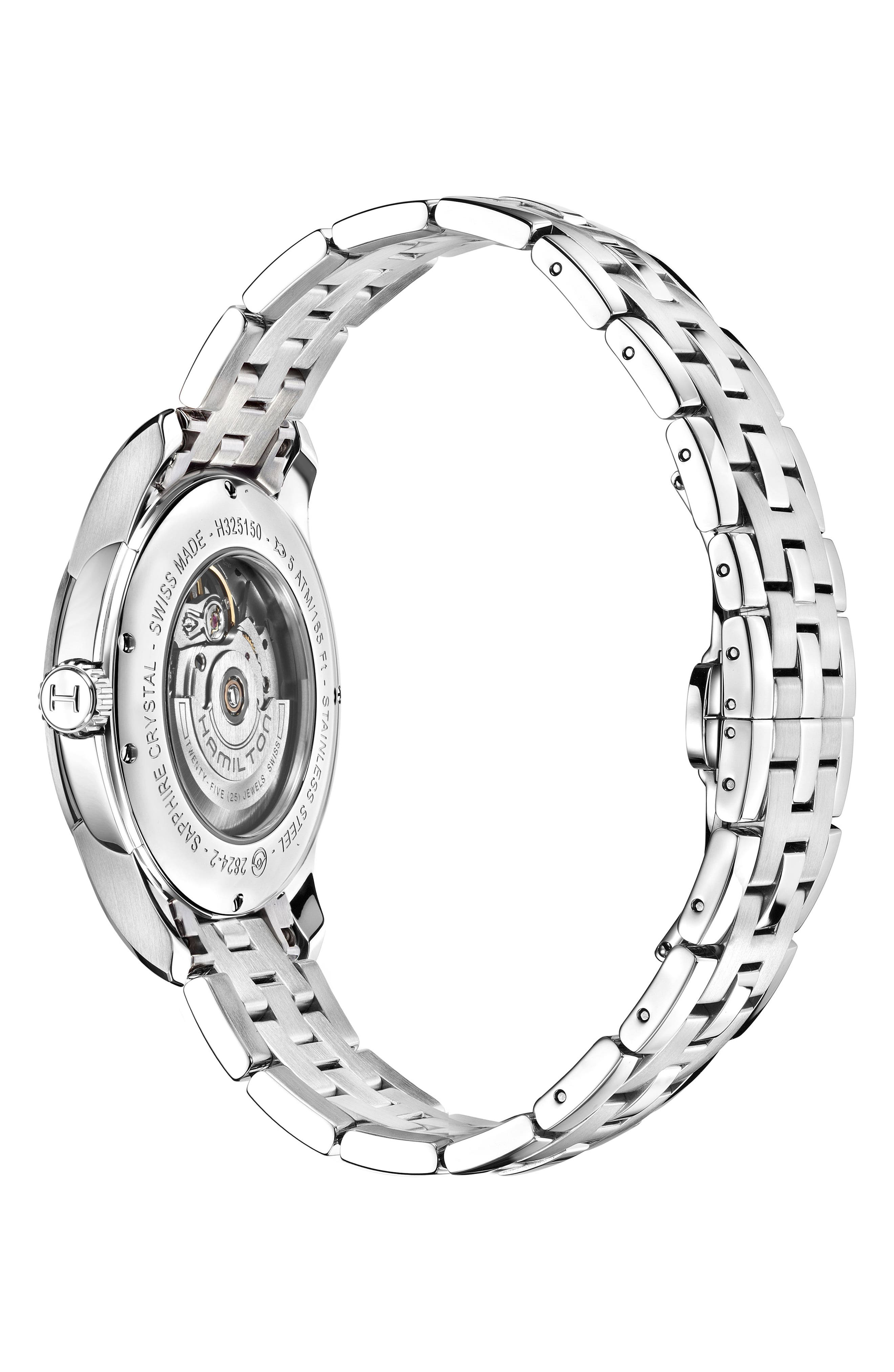 Jazzmaster Viewmatic Auto Bracelet Watch, 40mm,                             Alternate thumbnail 2, color,                             SILVER