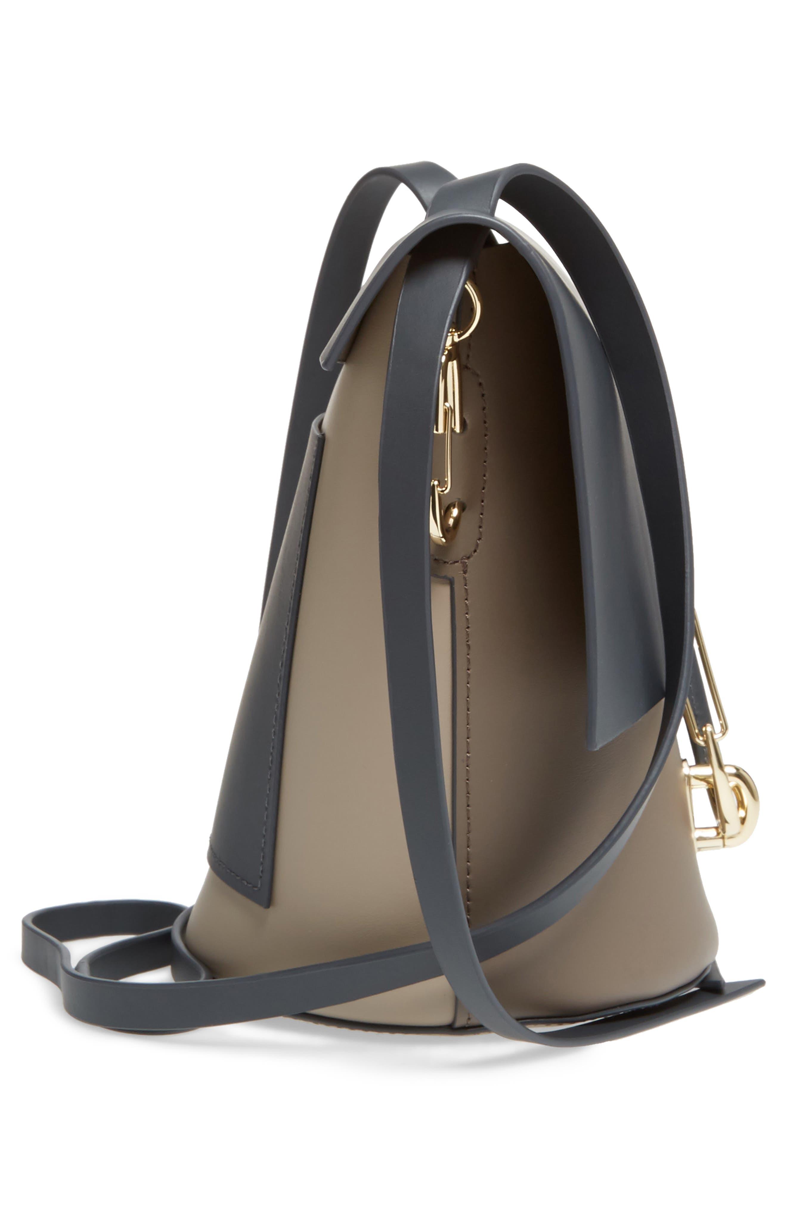 Belay Colorblock Leather Crossbody Bag,                             Alternate thumbnail 5, color,                             020
