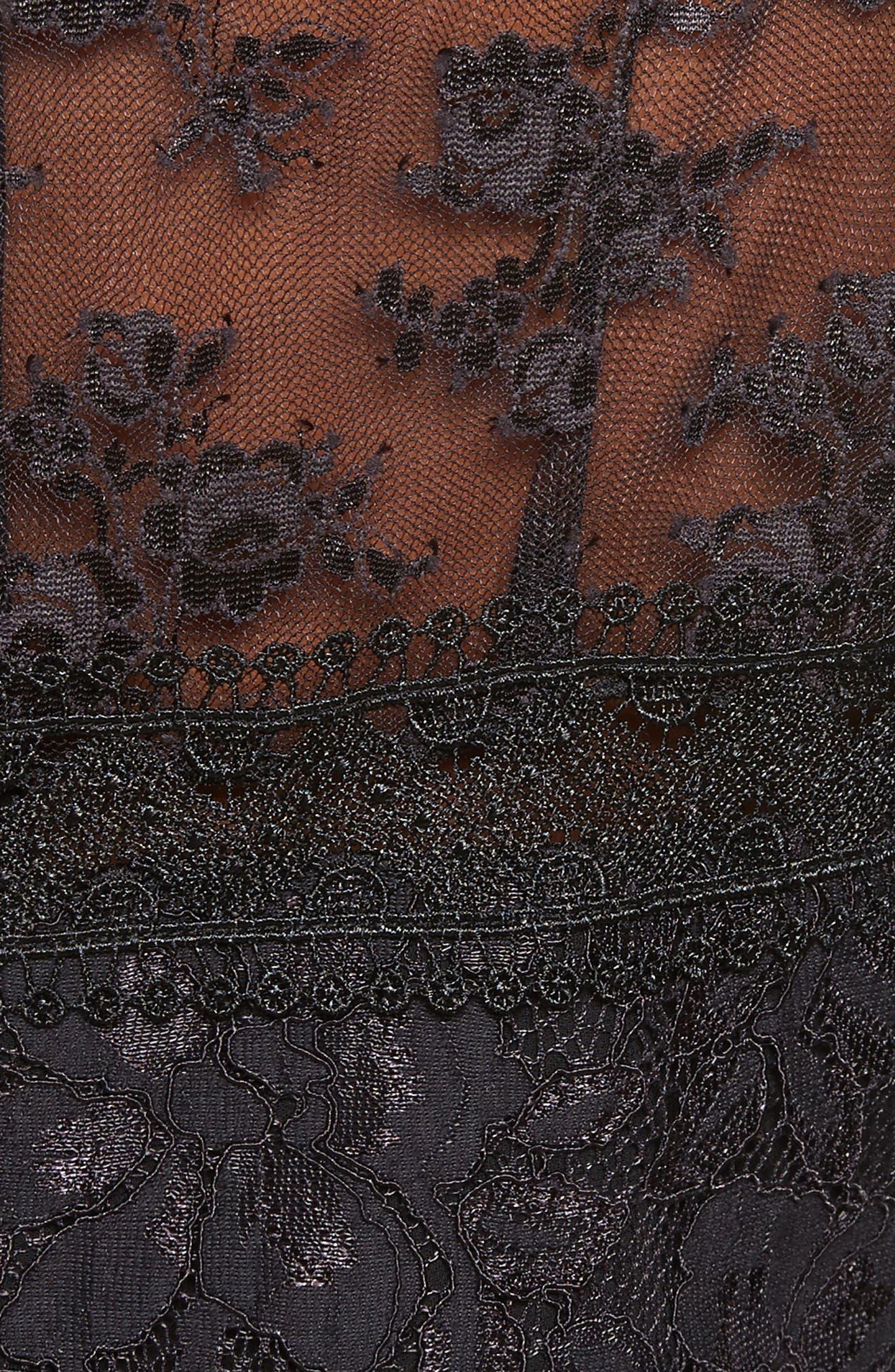 Floral Lace Dress,                             Alternate thumbnail 5, color,                             001