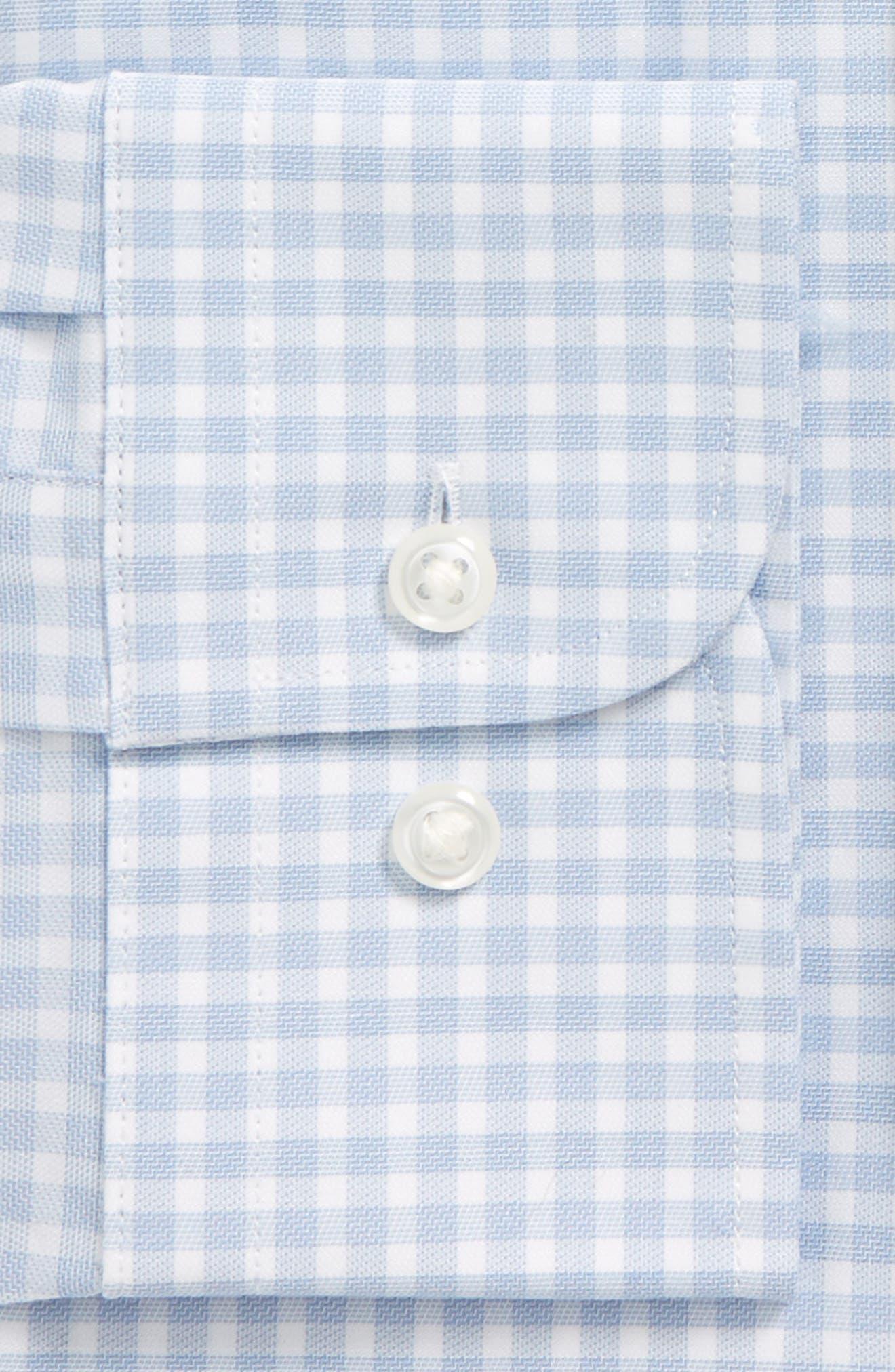Tech-Smart Trim Fit Stretch Check Dress Shirt,                             Alternate thumbnail 4, color,                             420