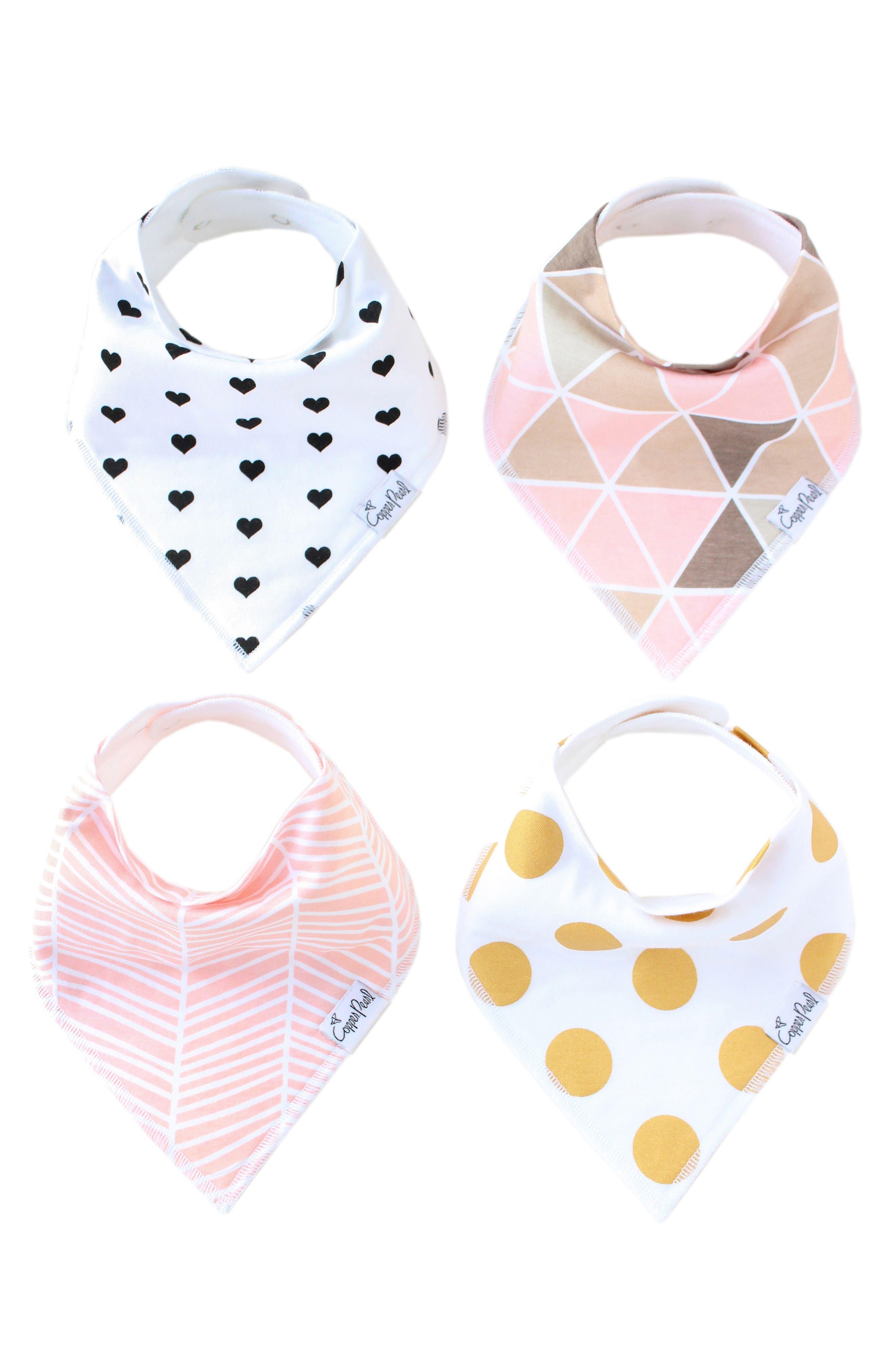 Blush Bib, Burp Cloth & Swaddle Blanket Gift Set,                             Alternate thumbnail 2, color,                             BLUSH