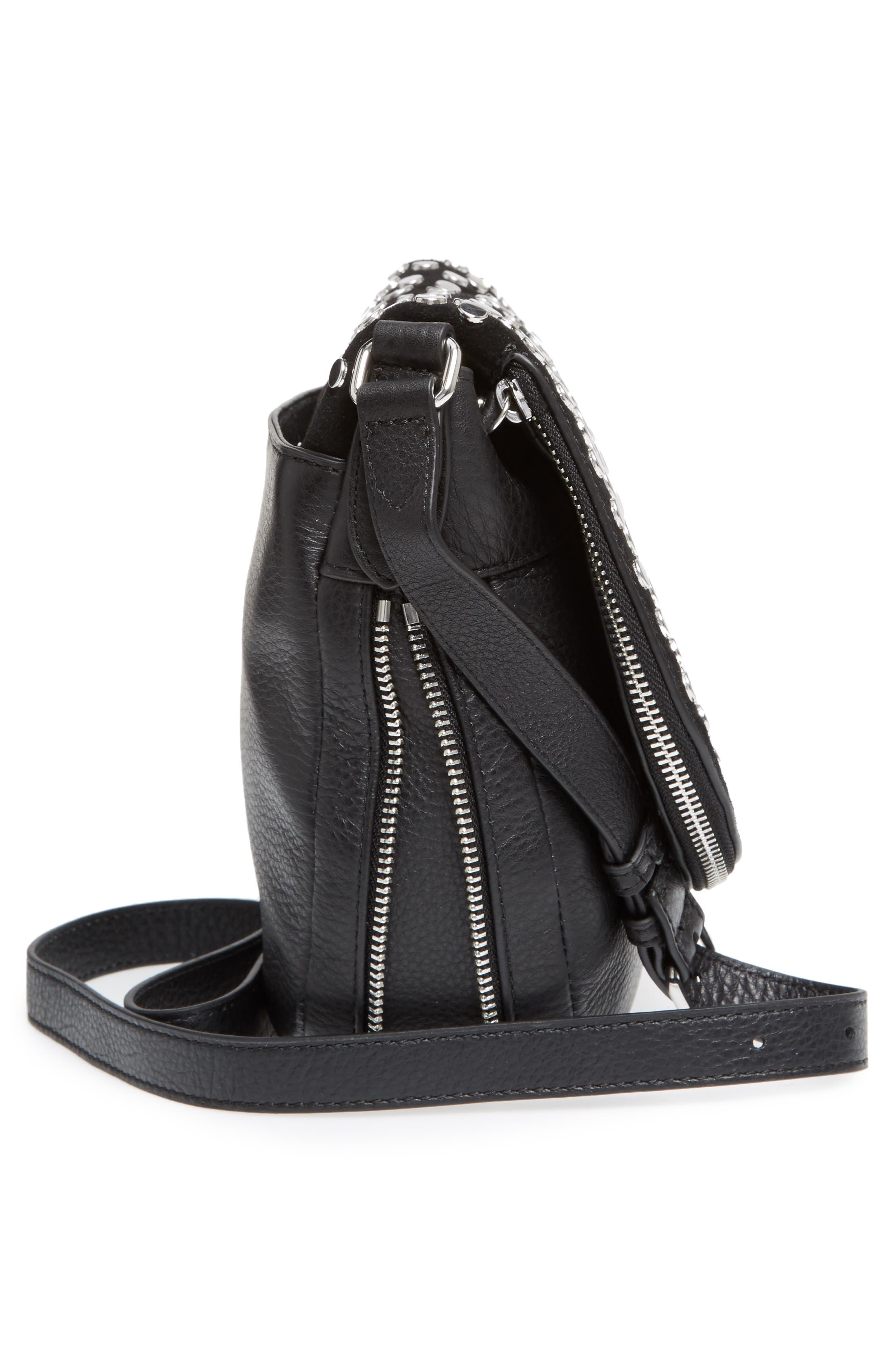 Bonny Studded Leather Crossbody Bag,                             Alternate thumbnail 9, color,