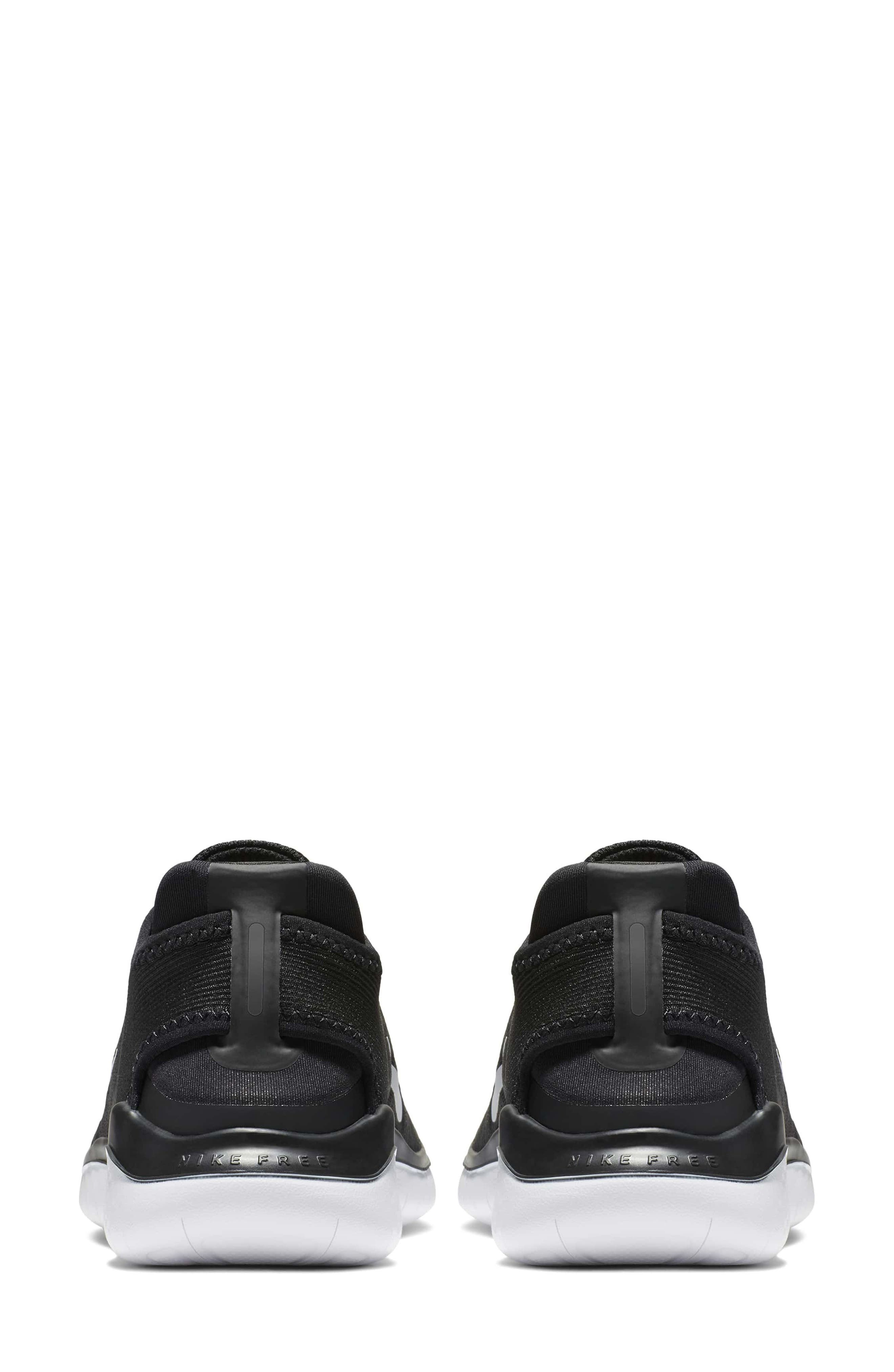 NIKE,                             Free RN 2018 Running Shoe,                             Alternate thumbnail 2, color,                             BLACK/ WHITE