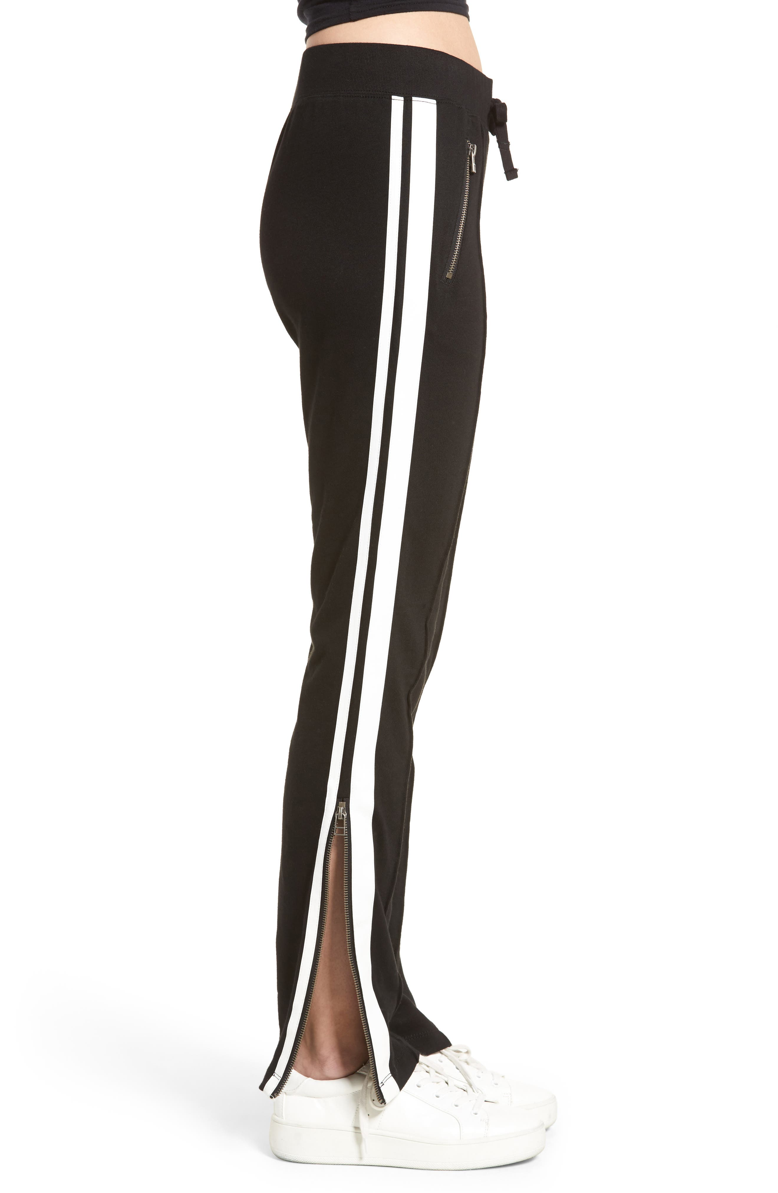 Side Stripe Pants,                             Alternate thumbnail 4, color,                             001