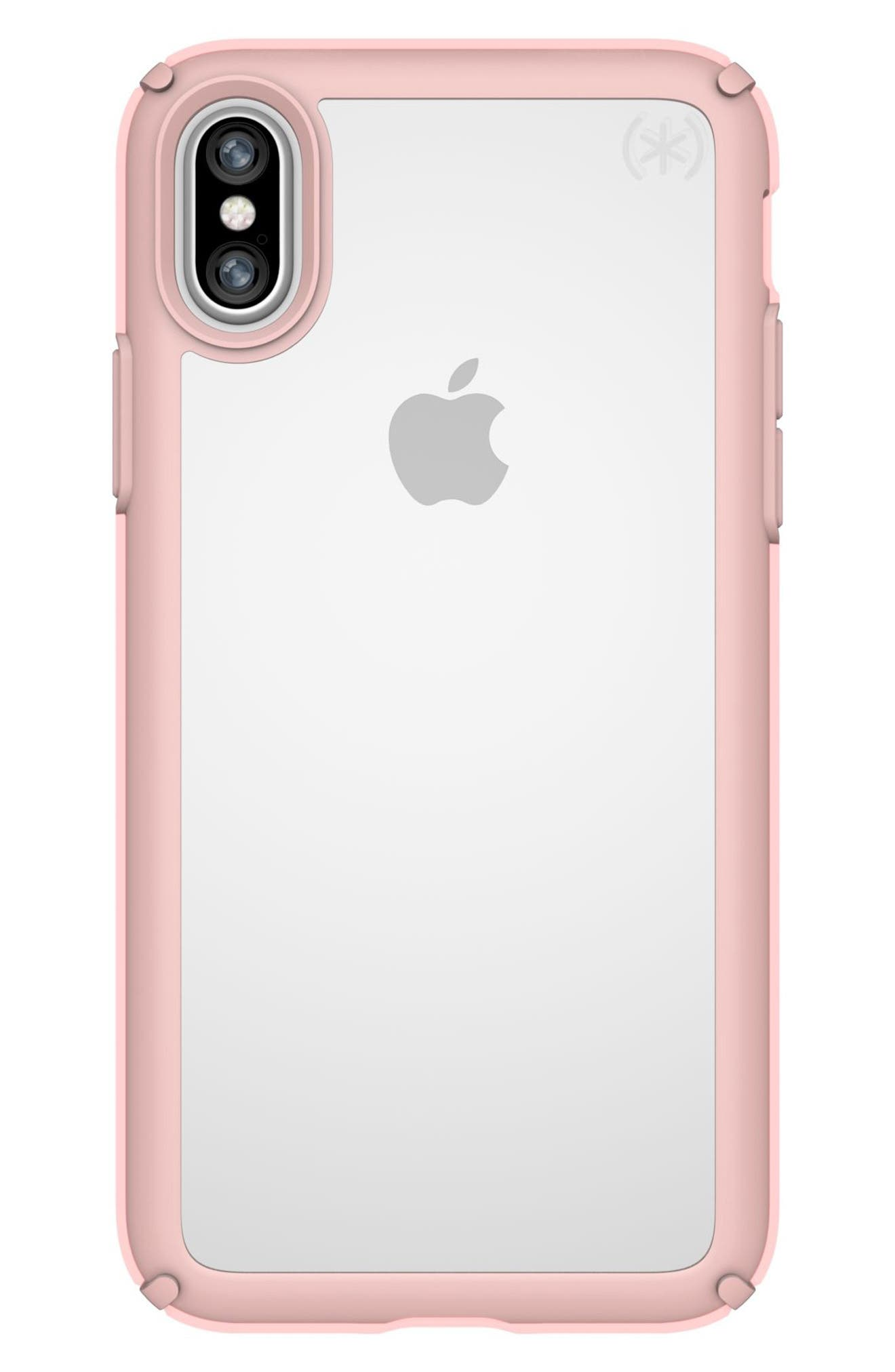 SPECK Transparent iPhone X & Xs Case, Main, color, 710