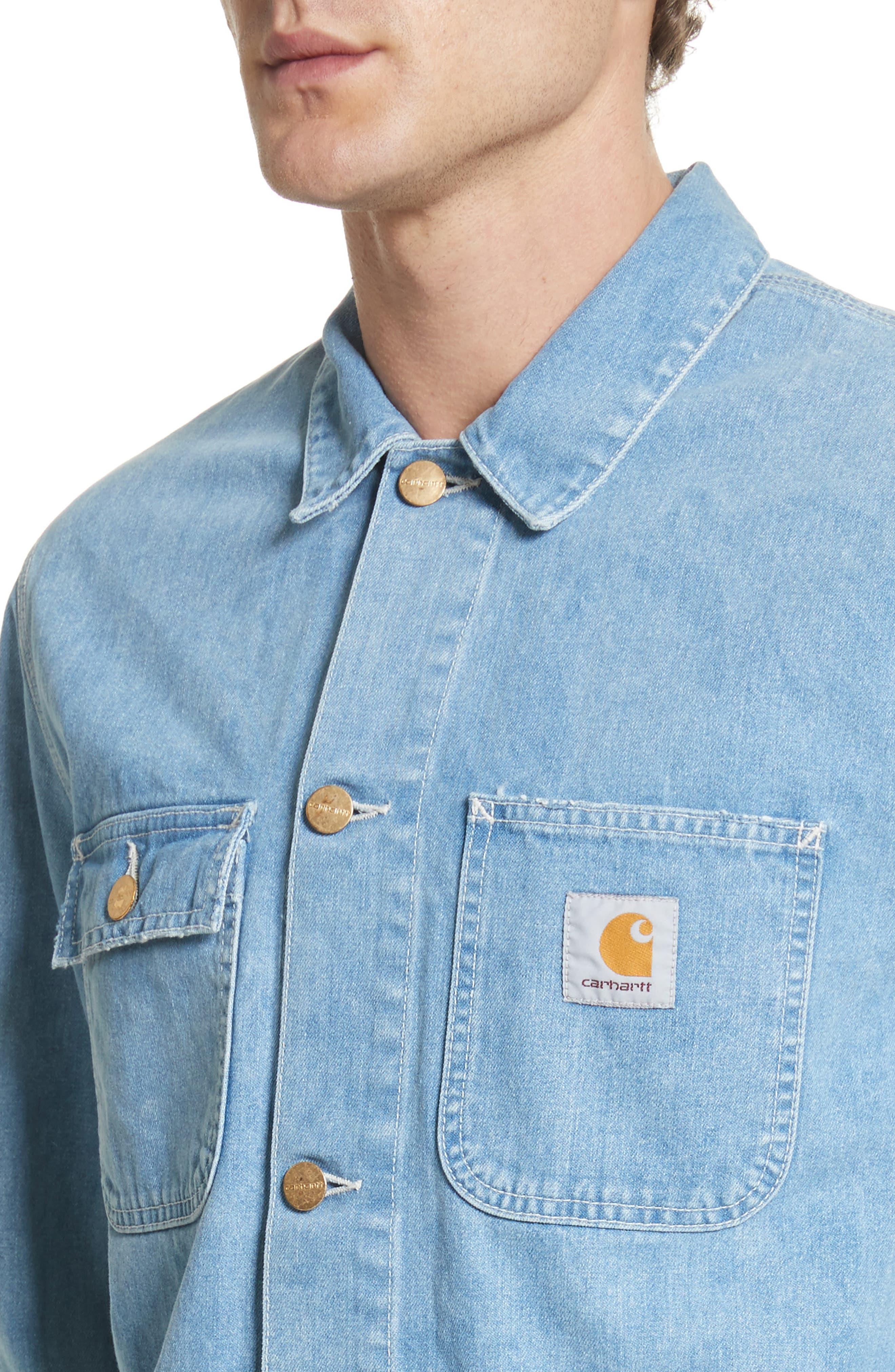 Michigan Norco Denim Chore Jacket,                             Alternate thumbnail 4, color,