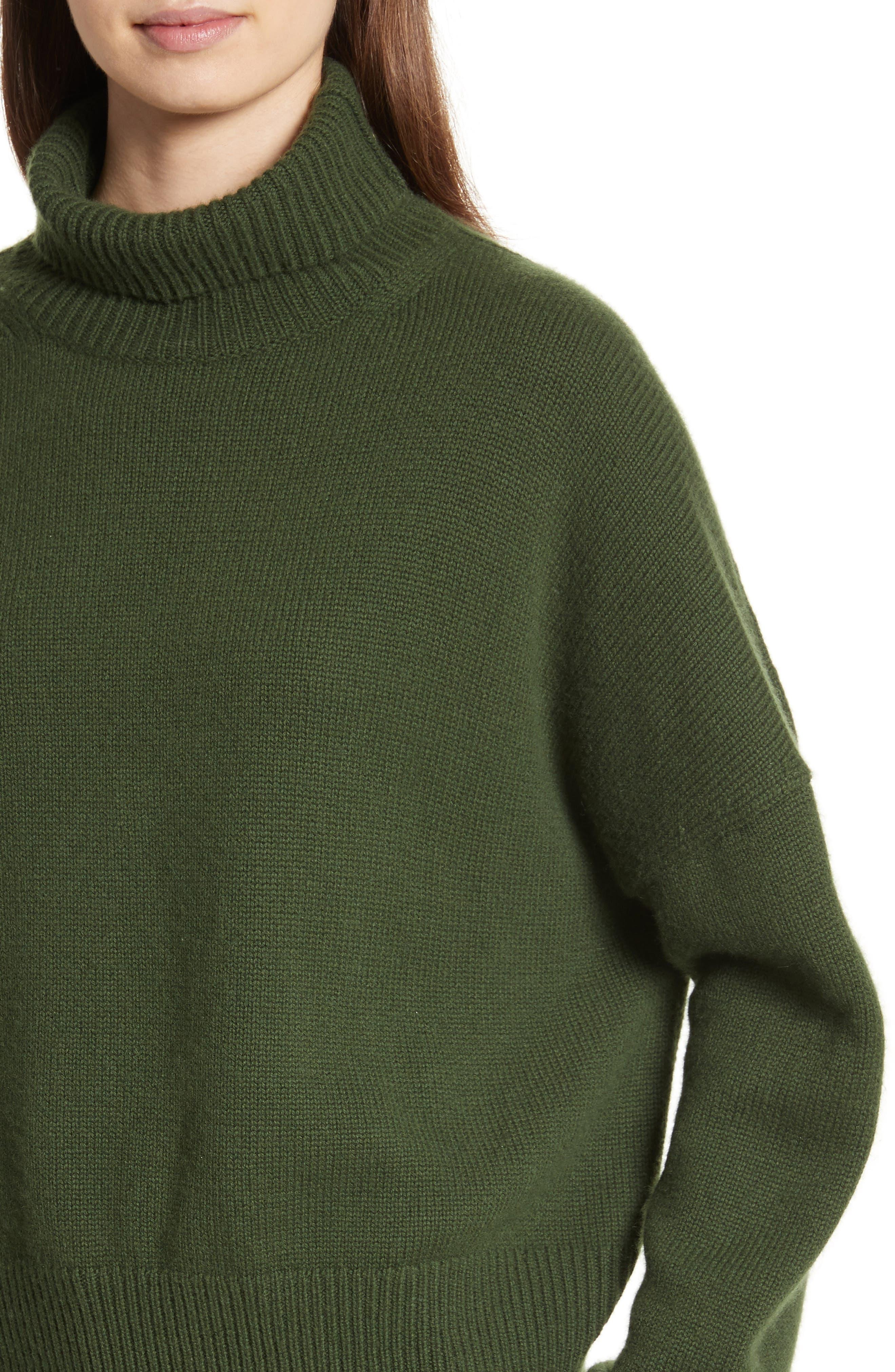 Serinda Wool & Cashmere Turtleneck Sweater,                             Alternate thumbnail 4, color,                             303