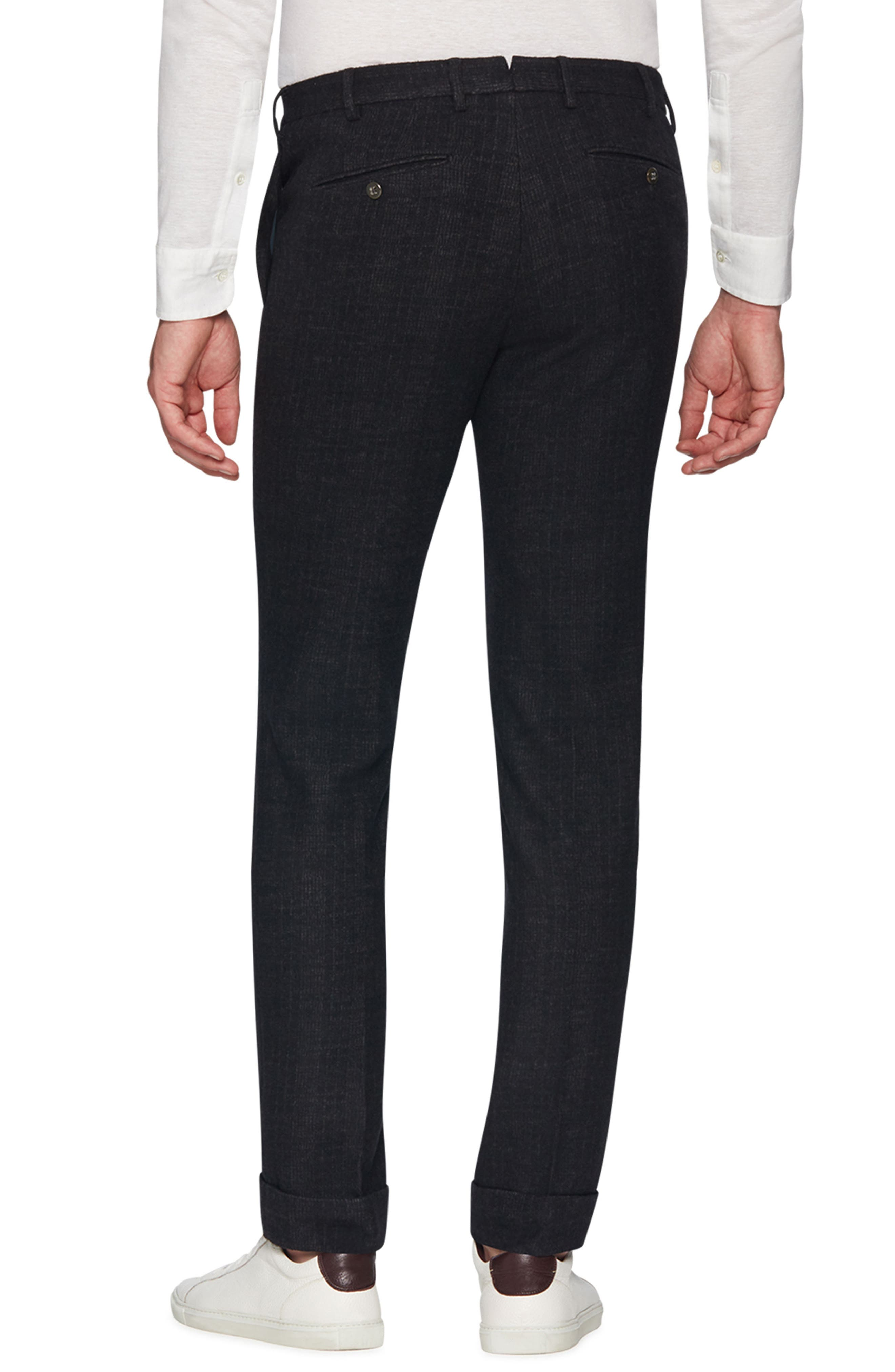 Josh Wool Blend Jersey Trousers,                             Alternate thumbnail 2, color,                             CHARCOAL