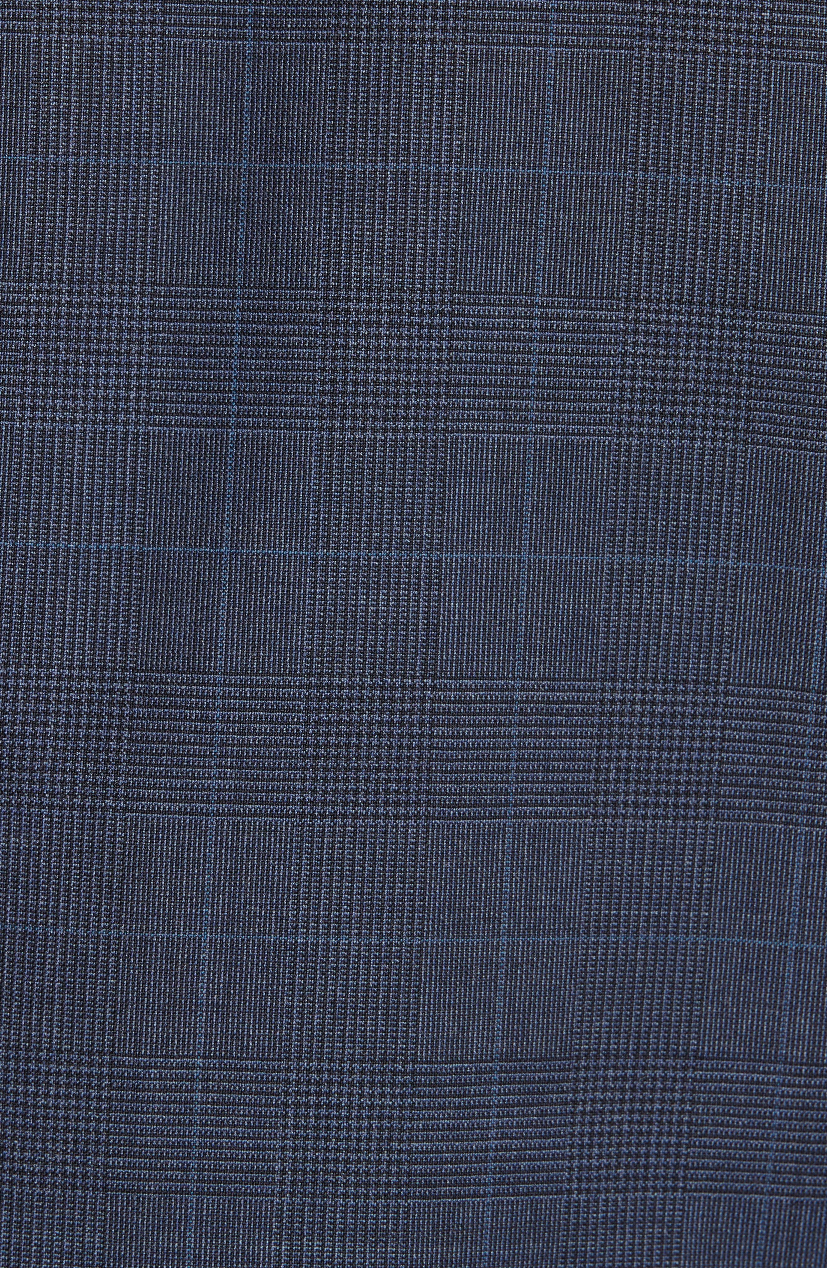 Drop 7 Trim Fit Plaid Wool Suit,                             Alternate thumbnail 7, color,                             416
