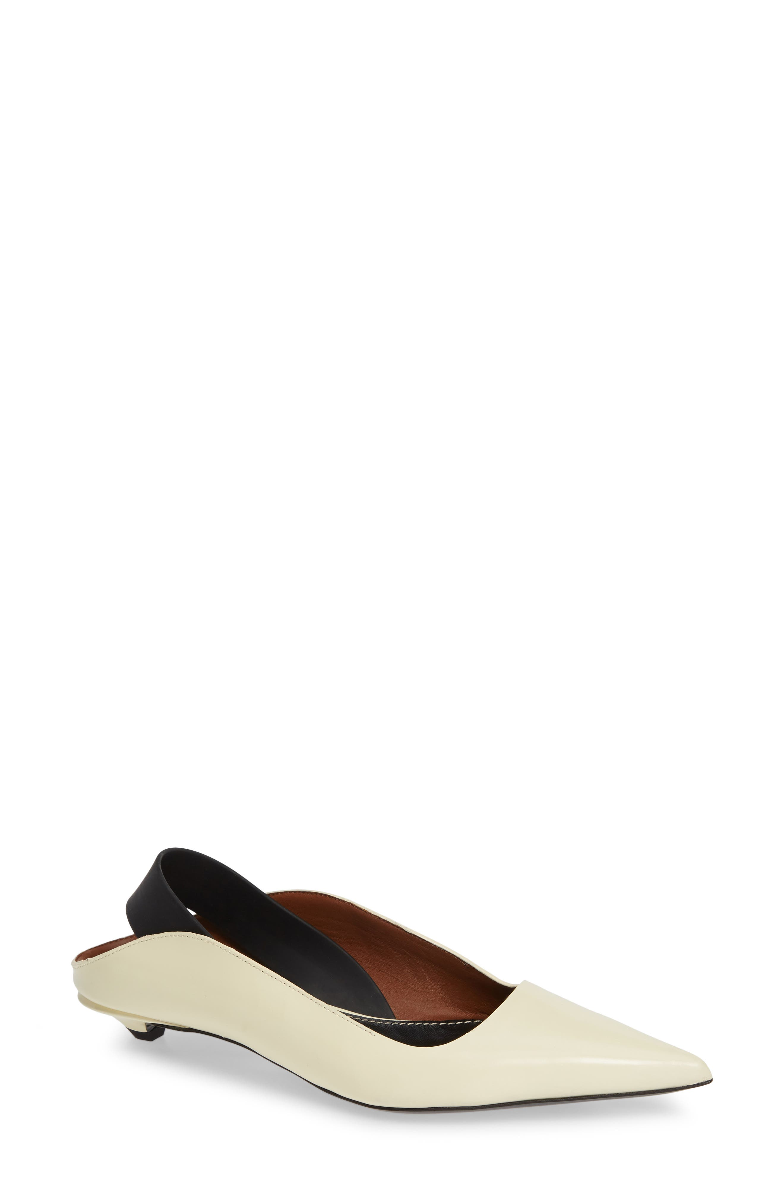 PROENZA SCHOULER Wave Pointy Toe Pump, Main, color, WHITE