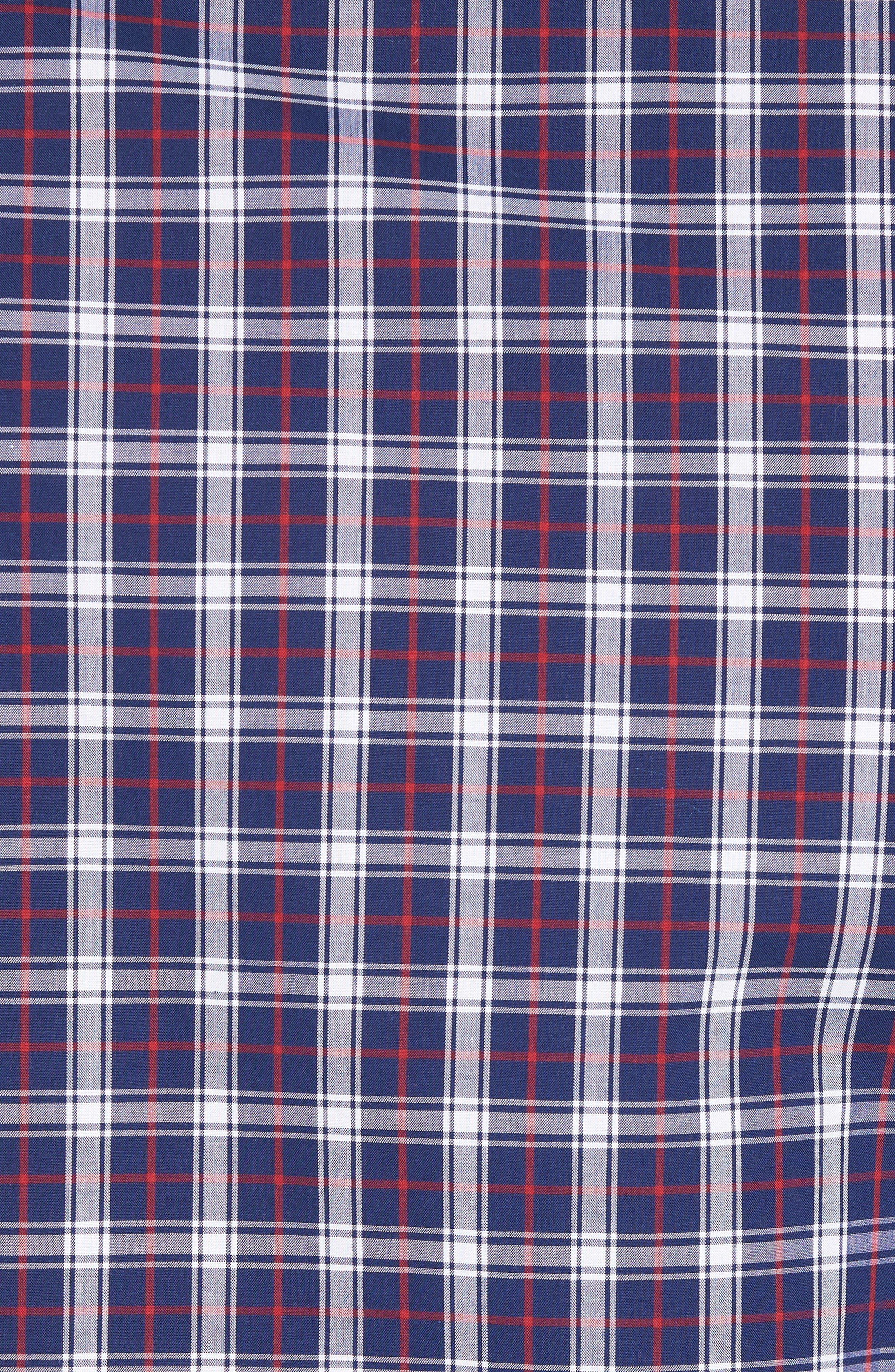 Slim Fit Check Sport Shirt,                             Alternate thumbnail 5, color,                             411