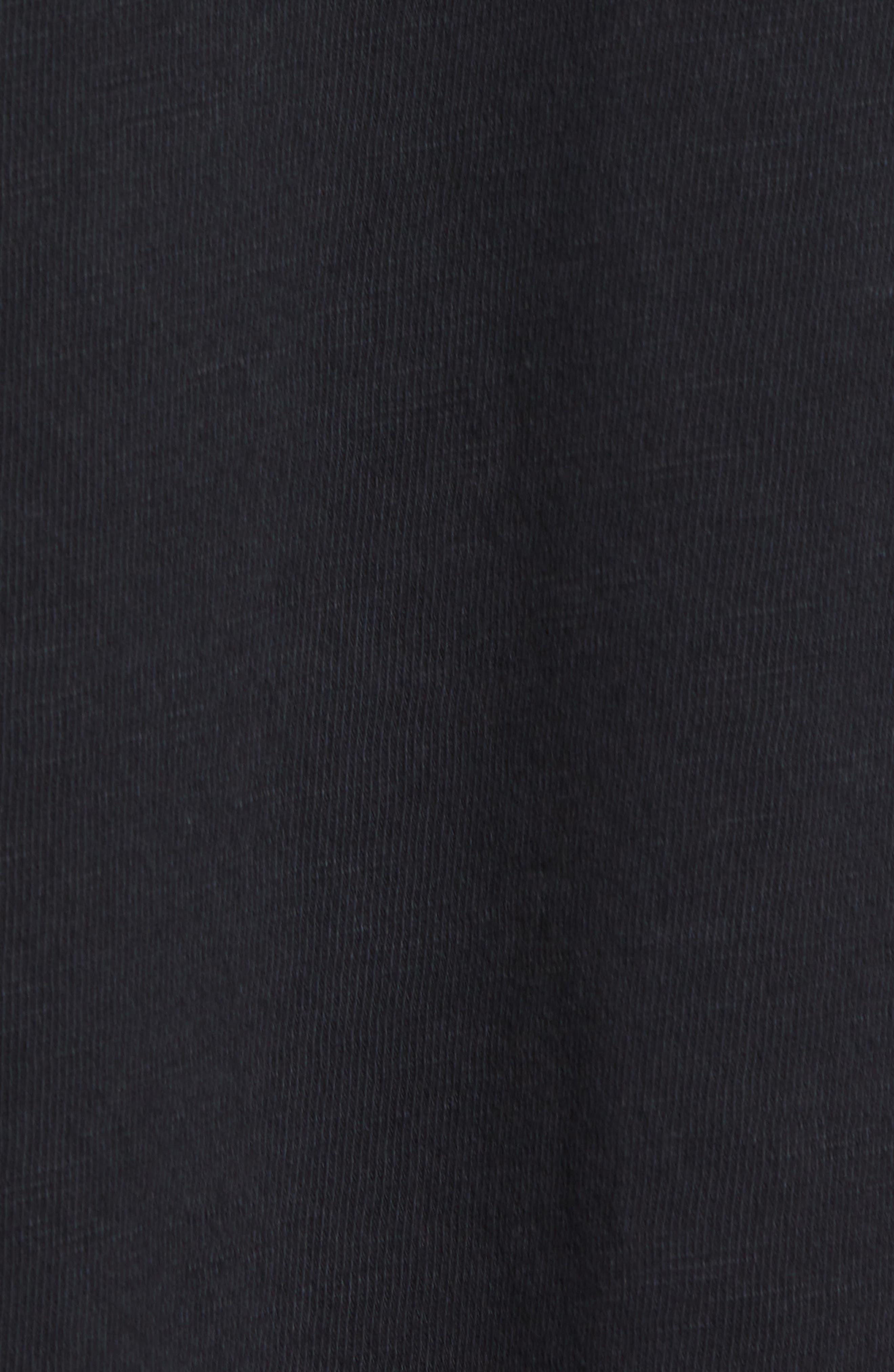 Slubbed Graphic T-Shirt,                             Alternate thumbnail 5, color,                             BLACK
