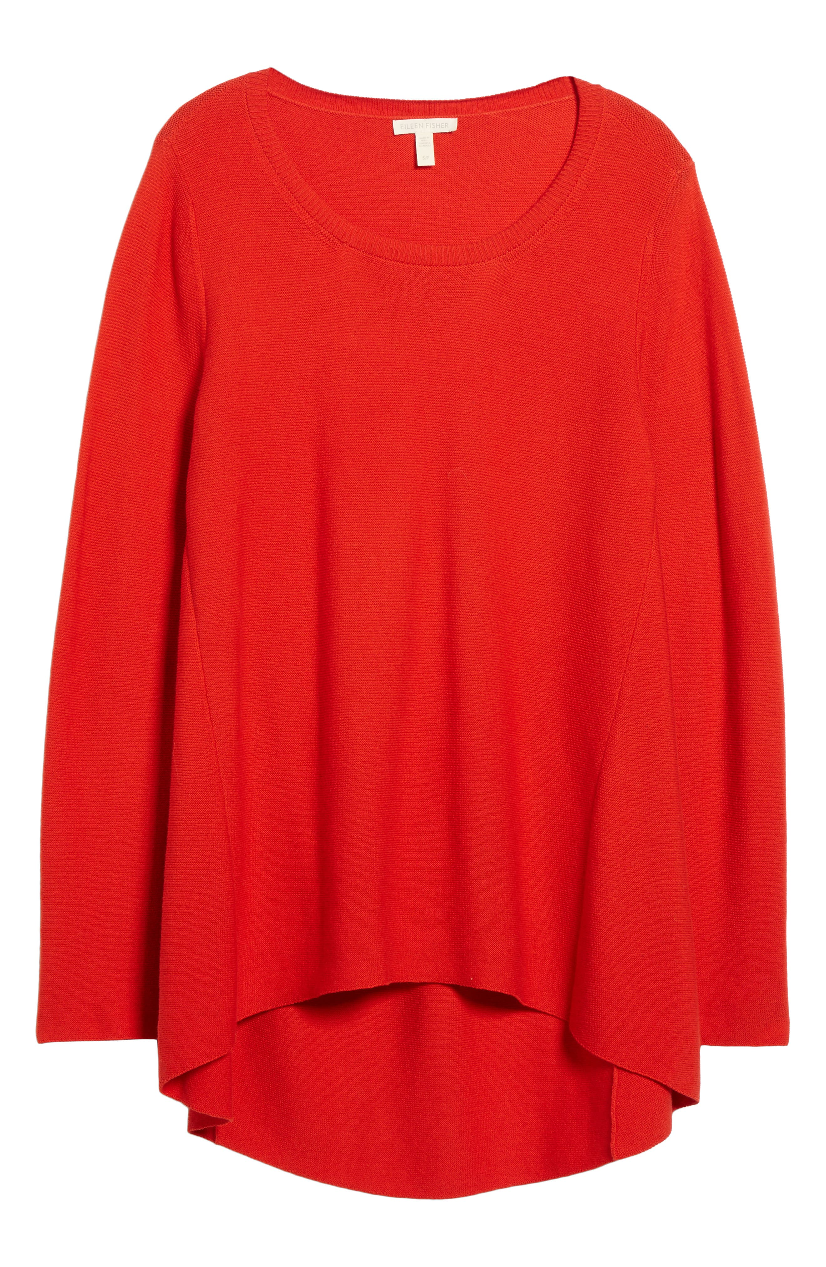 Organic Cotton Tunic Sweater,                             Alternate thumbnail 18, color,