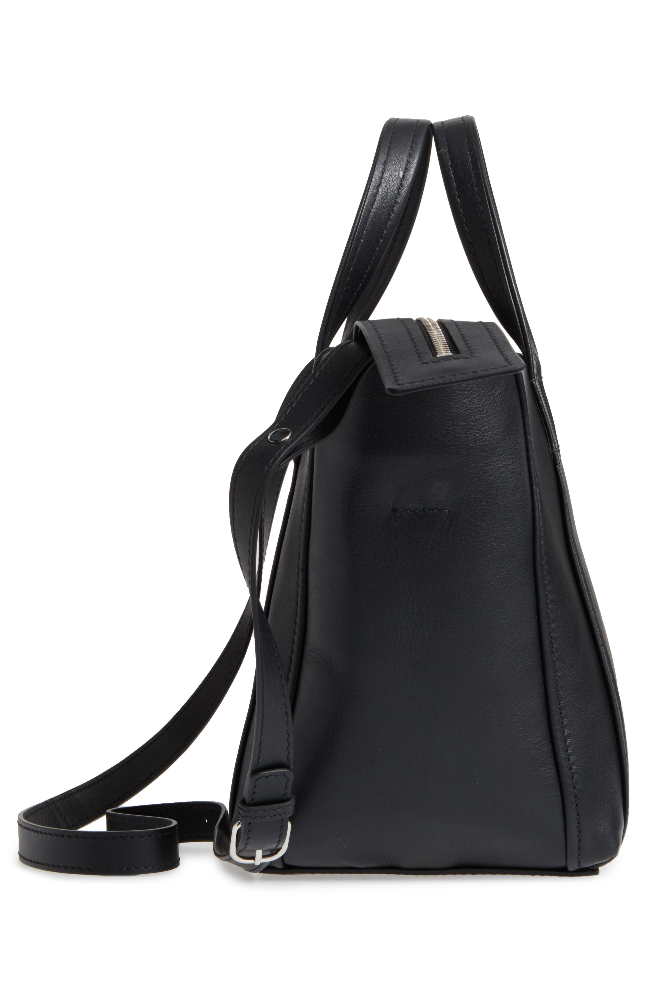 Extra Small Laundry Cabas Calfskin Tote,                             Alternate thumbnail 5, color,                             NOIR