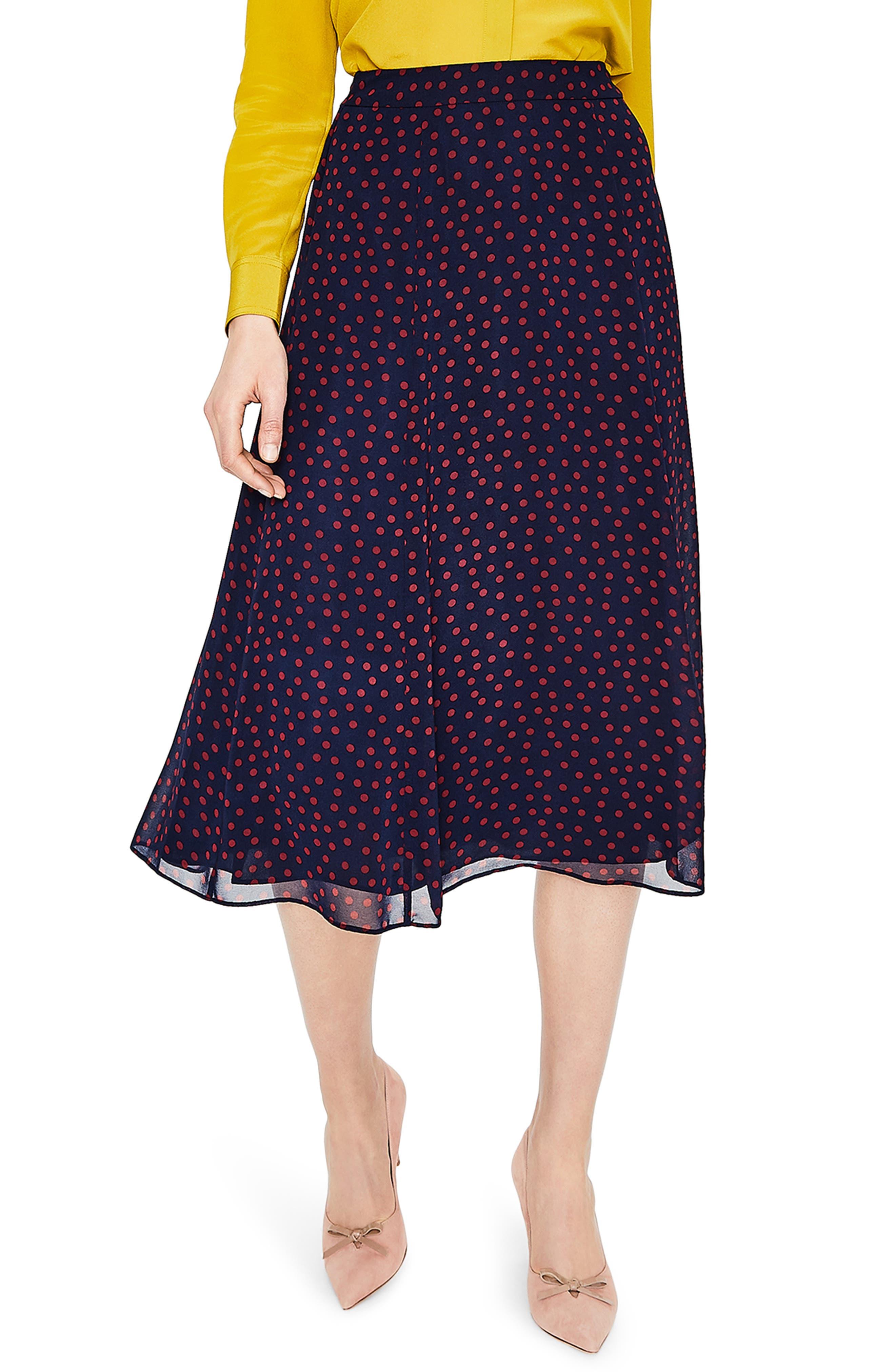 Polka Dot A-Line Skirt,                             Main thumbnail 1, color,                             934