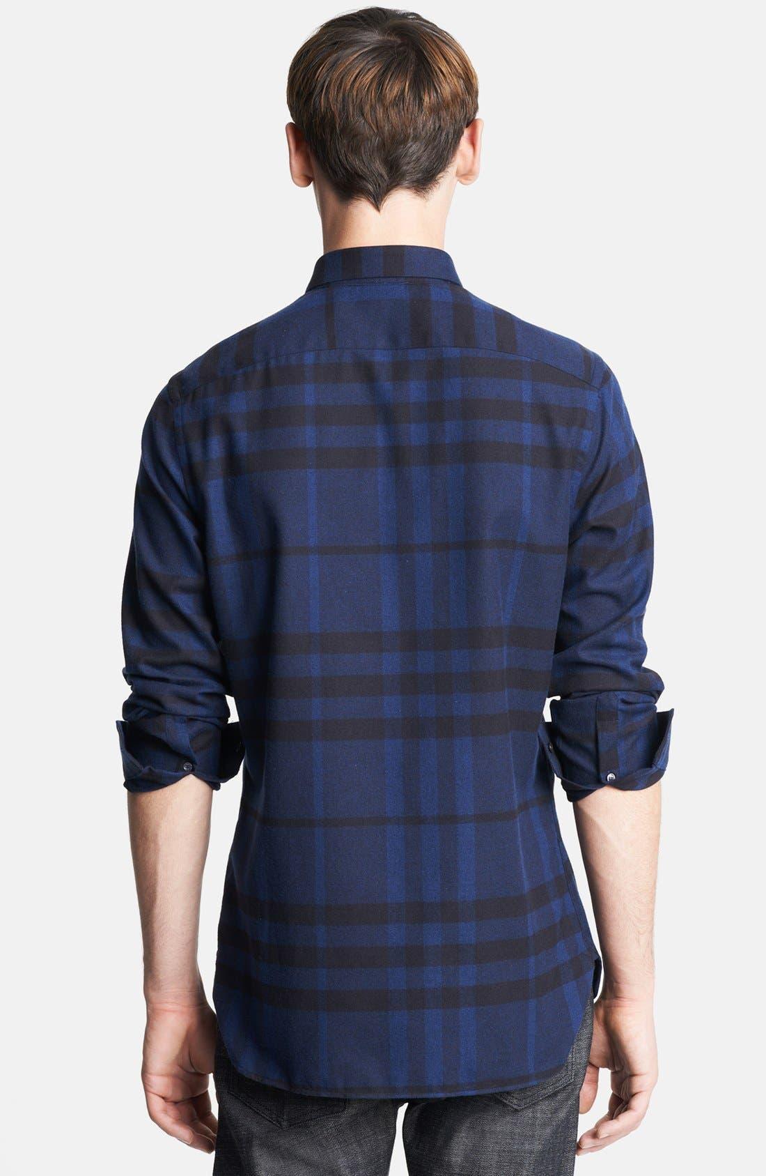 London Check Flannel Shirt,                             Alternate thumbnail 2, color,                             410
