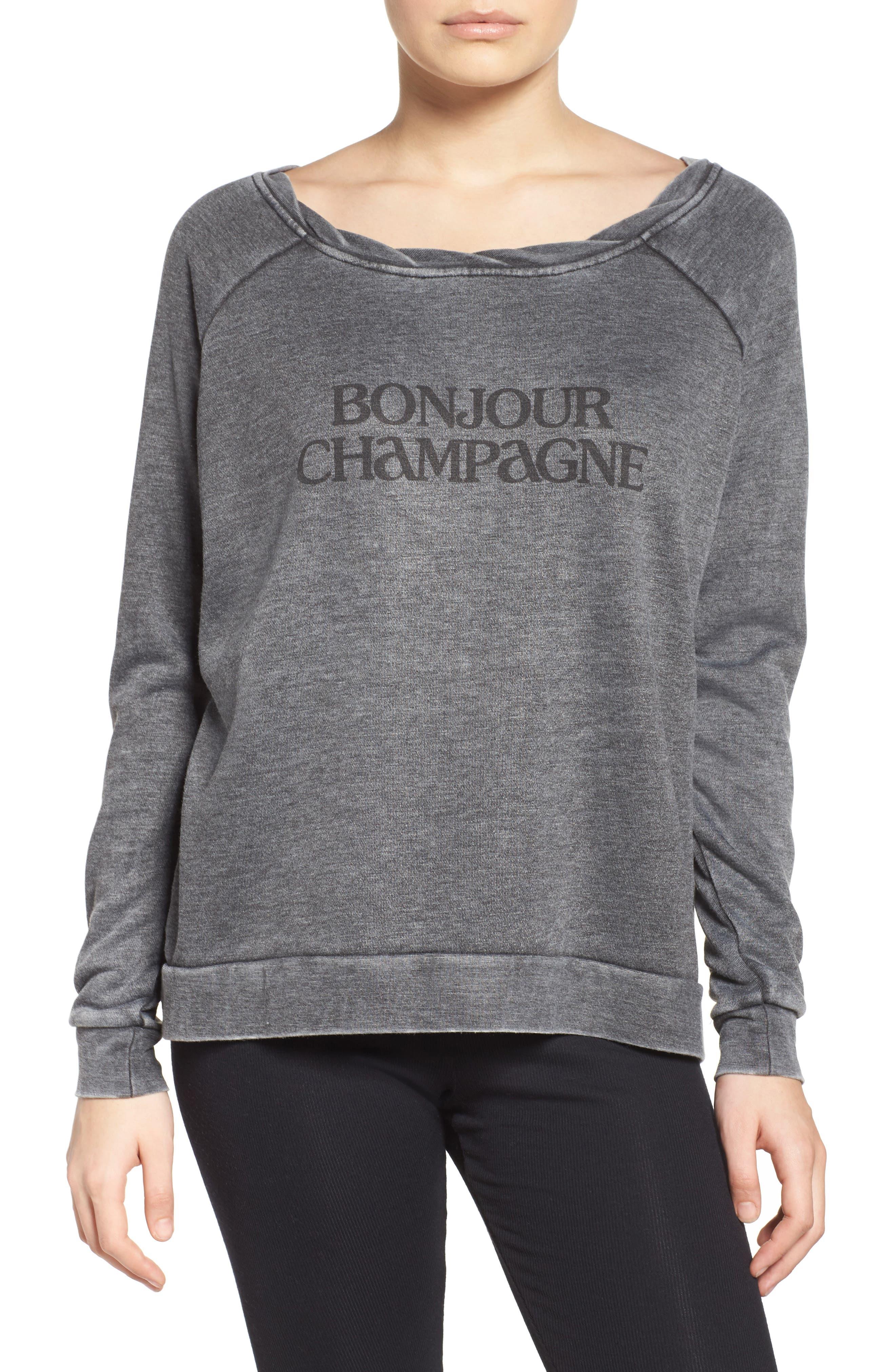 Bonjour Sweatshirt, Main, color, 020
