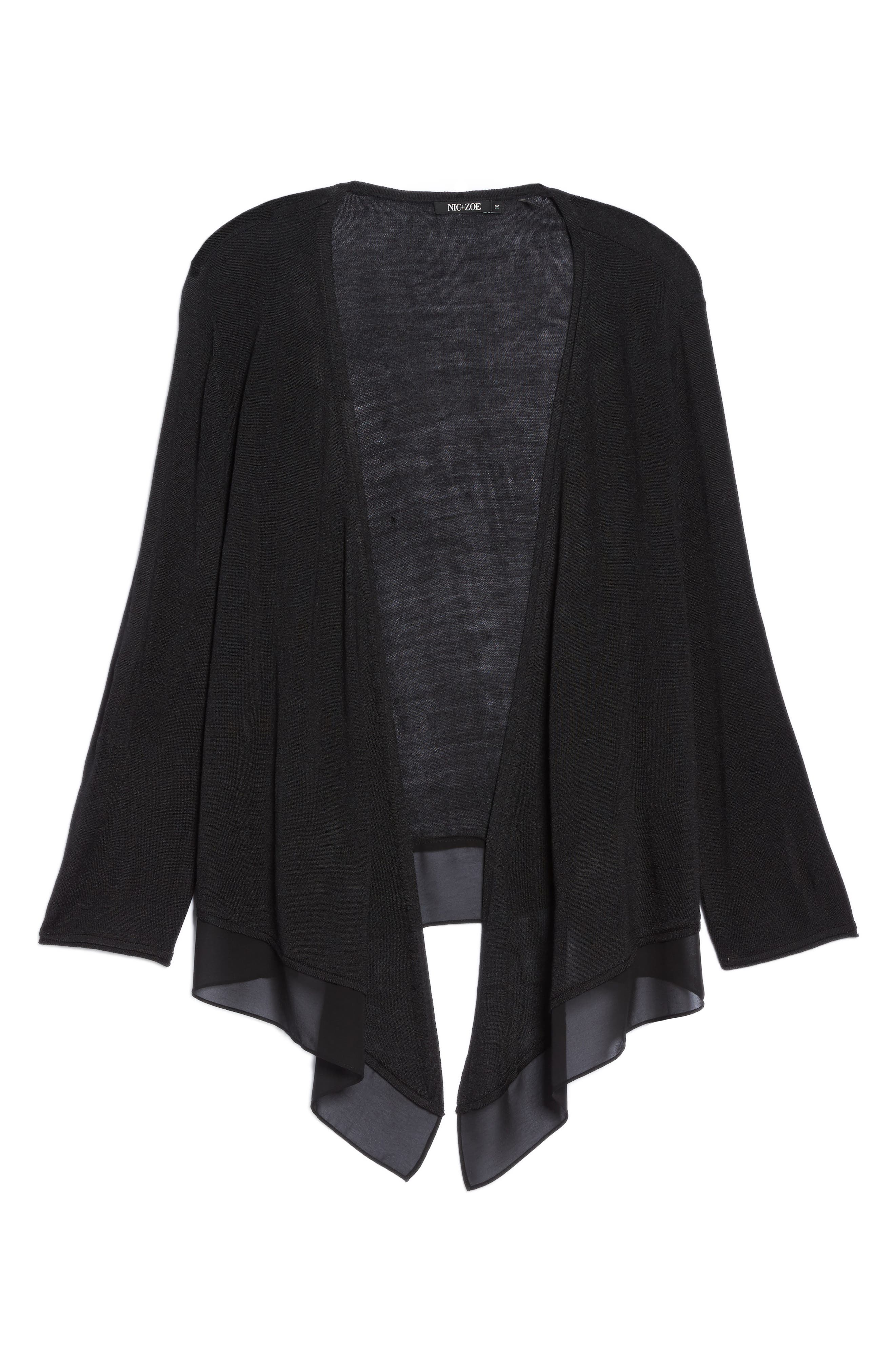 NIC+ZOE,                             Paired Up Silk Blend Cardigan,                             Alternate thumbnail 6, color,                             004