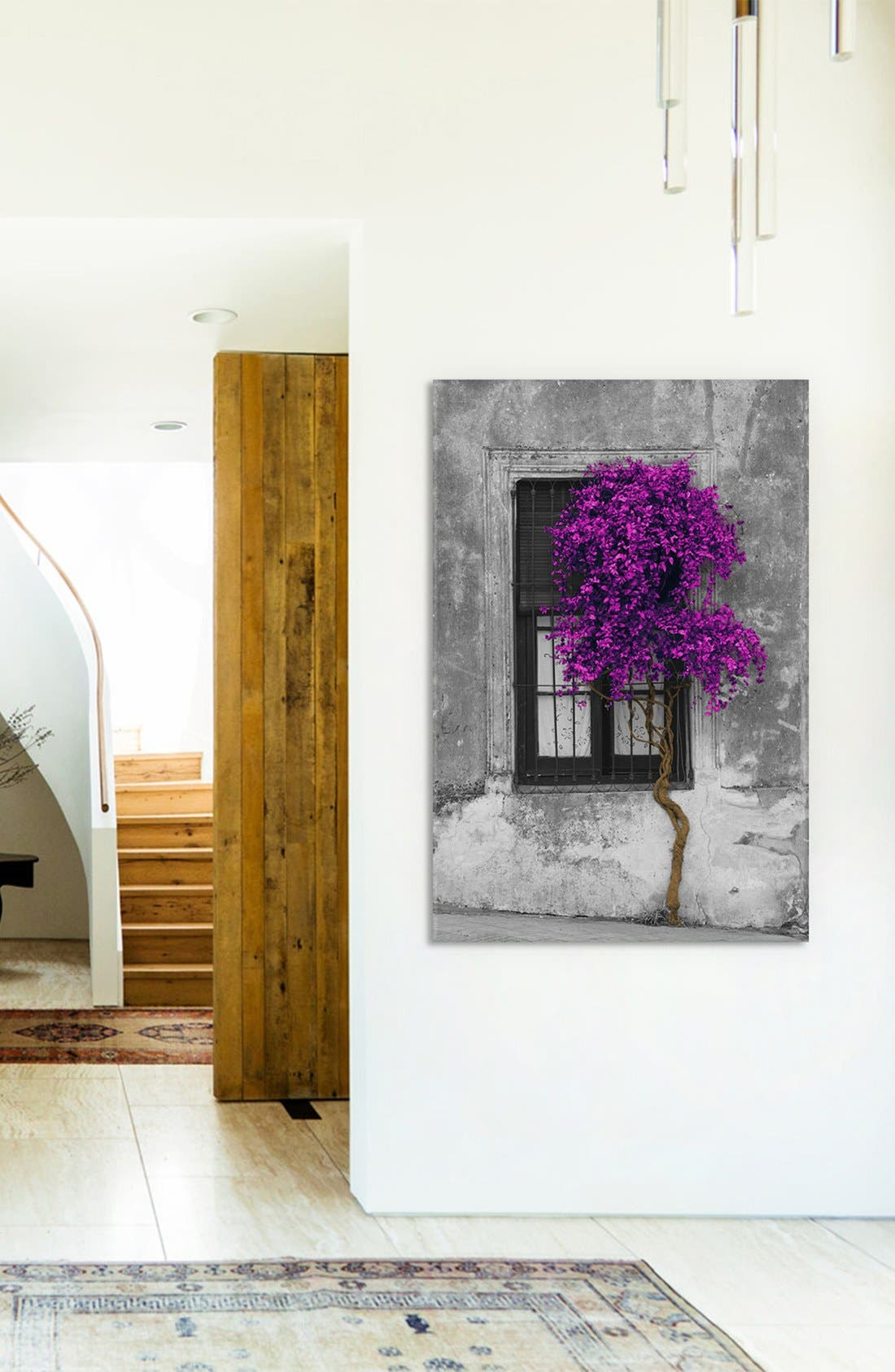 'Tree in Front of Window' Giclée Print Canvas Art,                             Alternate thumbnail 2, color,                             GREY