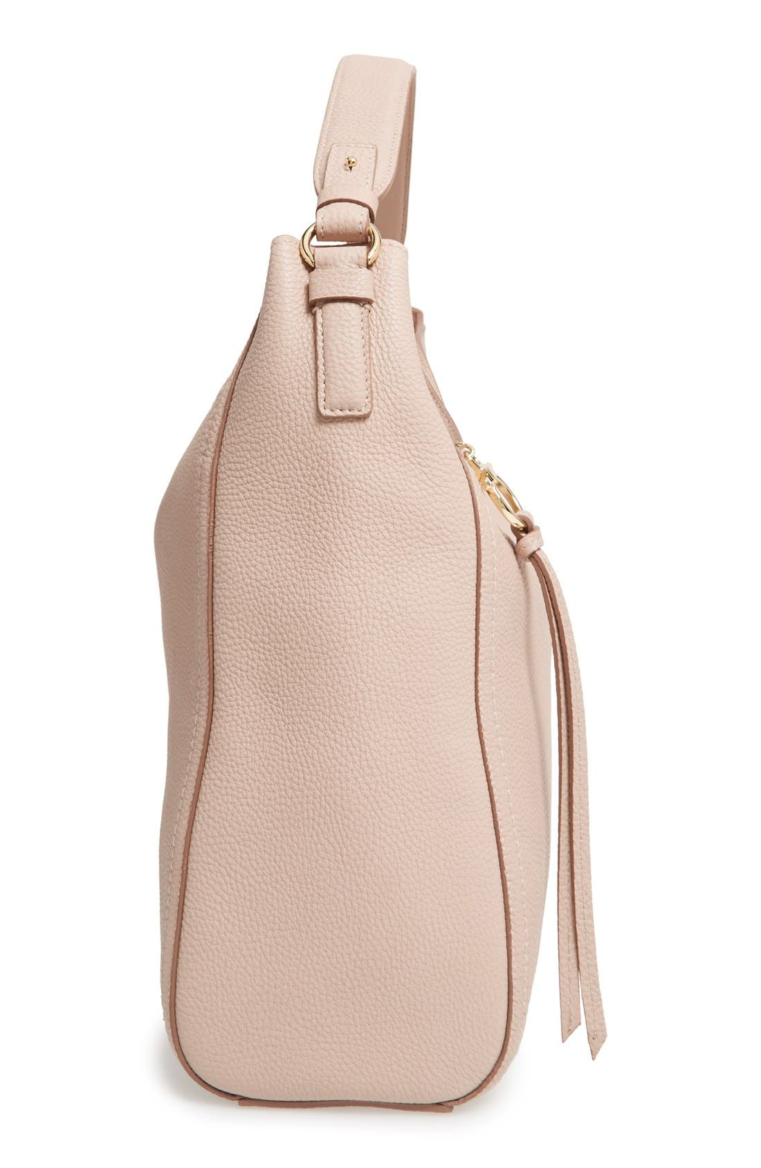 Calfskin Leather Hobo,                             Alternate thumbnail 4, color,                             250