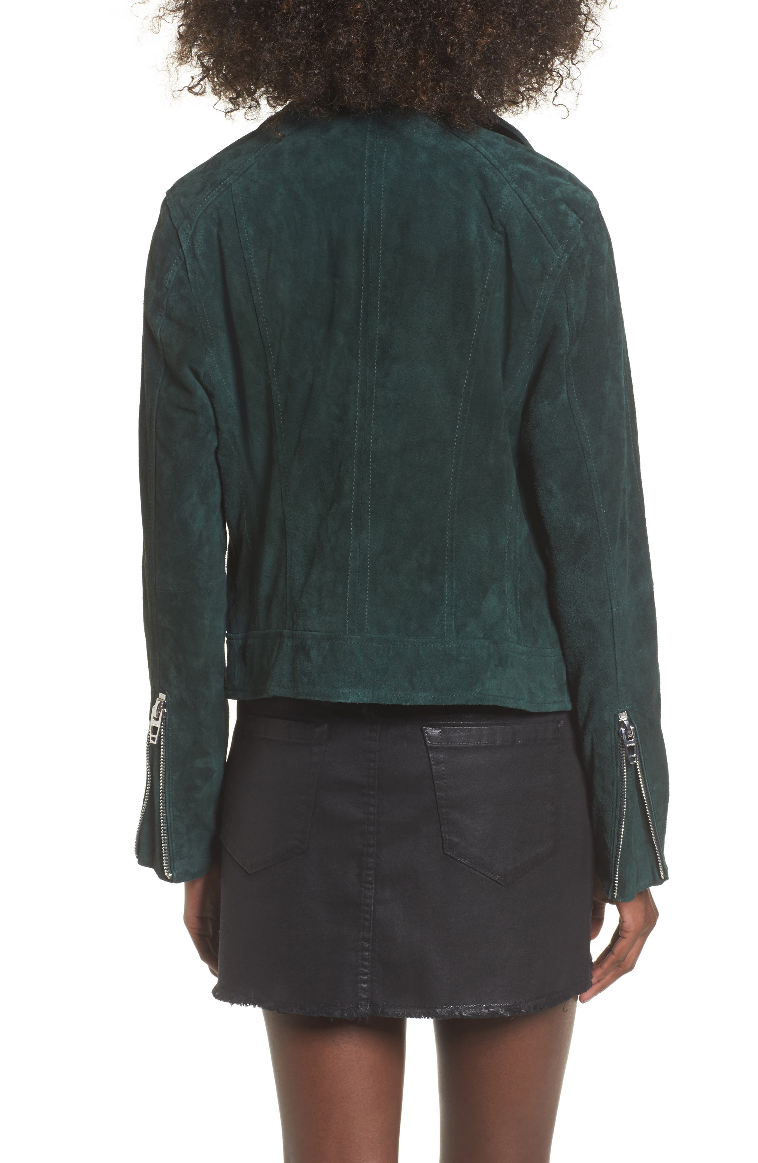 BLANKNYC,                             Suede Moto Jacket,                             Alternate thumbnail 2, color,                             EVERGREEN