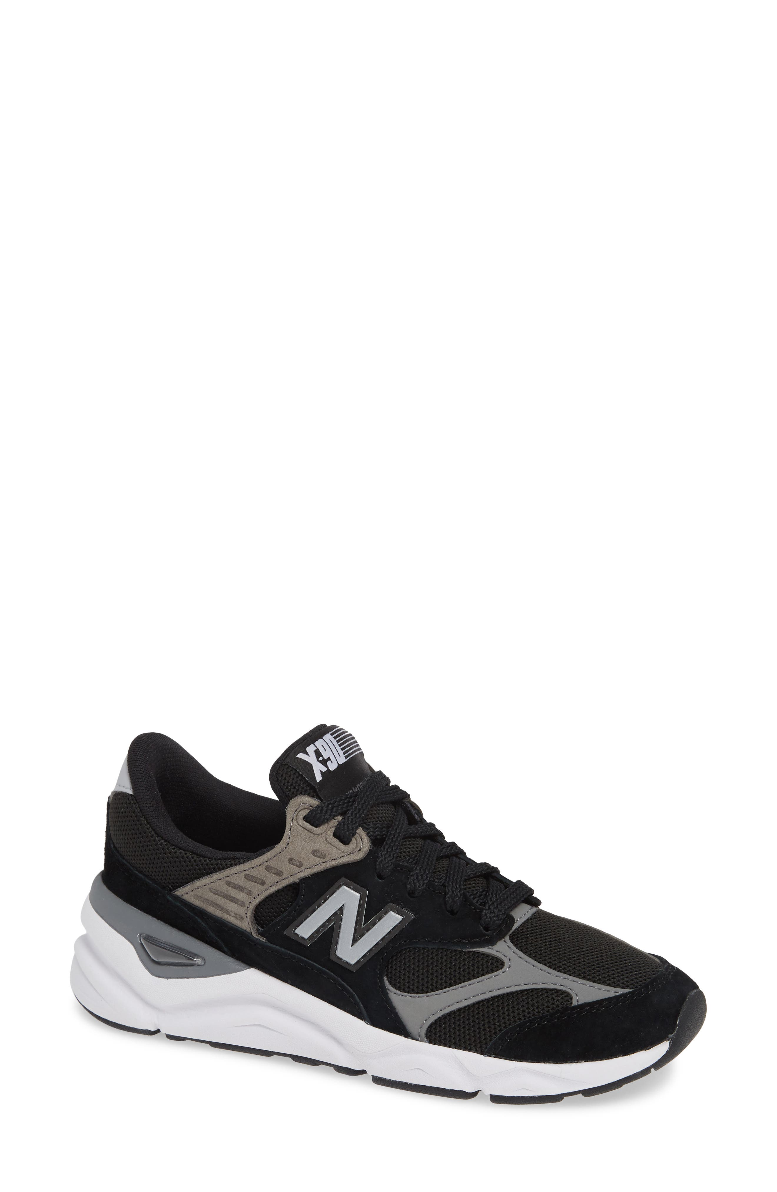 NEW BALANCE Women'S X90 Re-Constructed Lace-Up Sneakers in Black/ Black