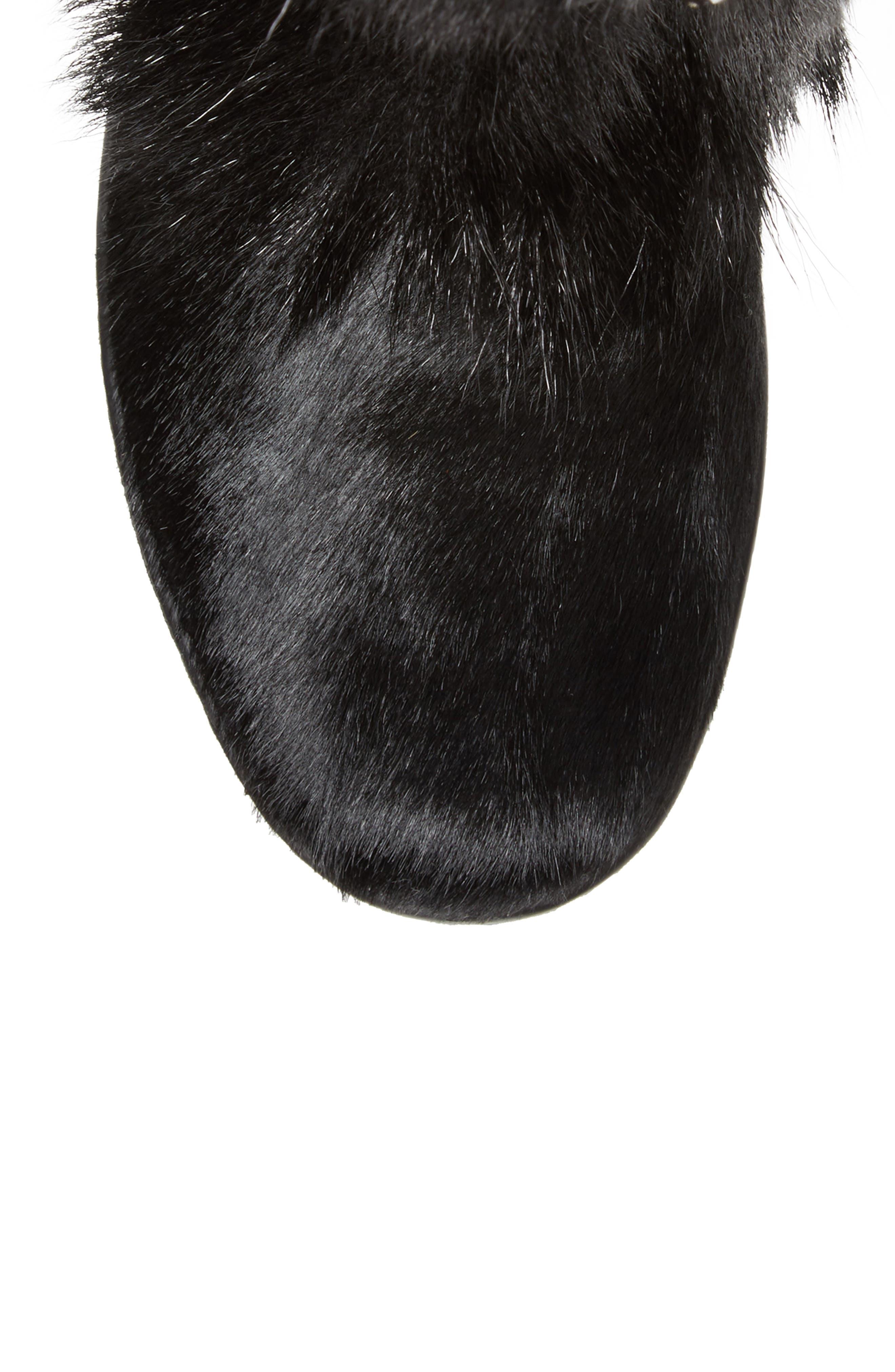 Davos Genuine Goat Fur Boot,                             Alternate thumbnail 5, color,                             001